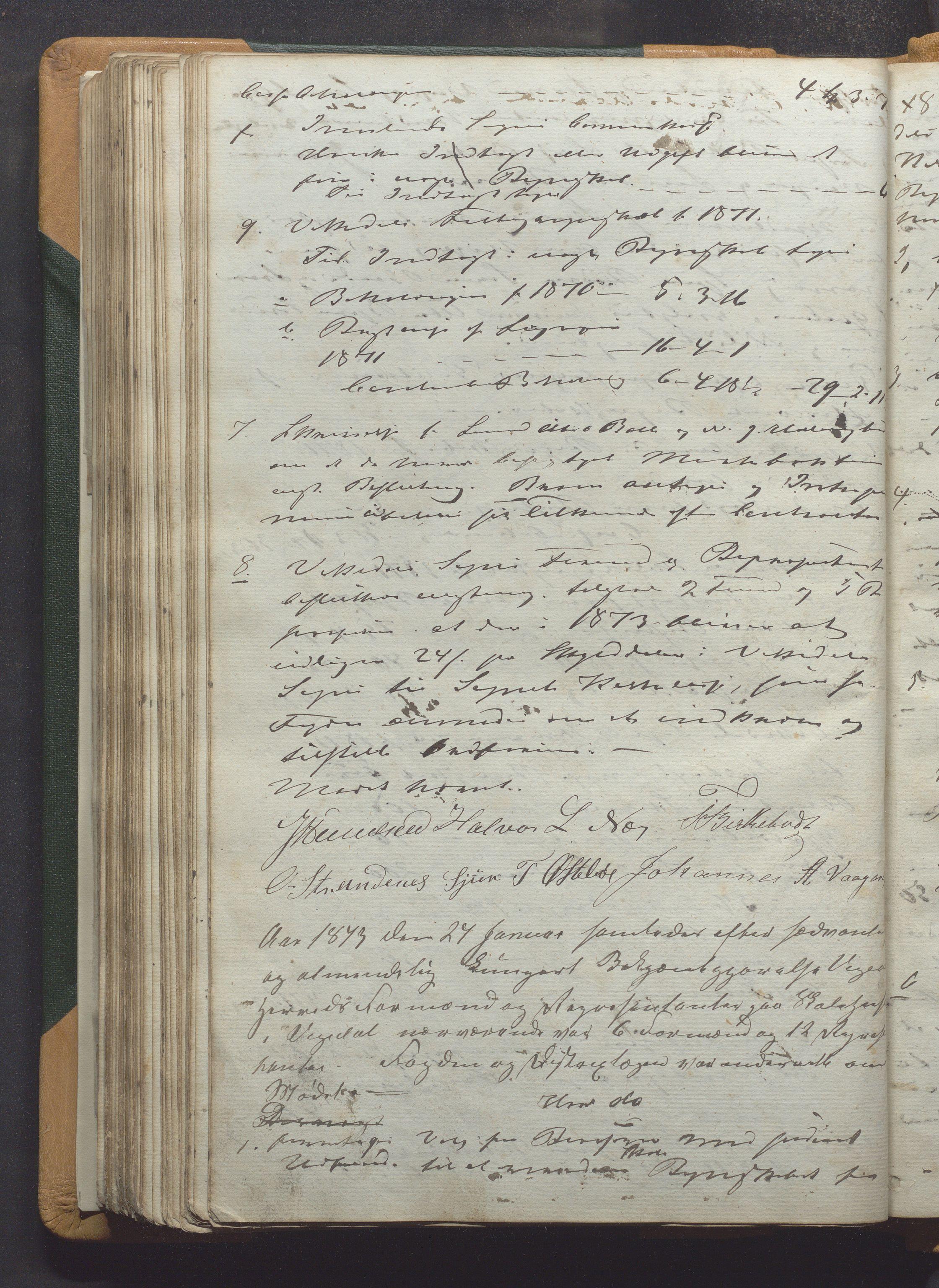 IKAR, Vikedal kommune - Formannskapet, Aaa/L0001: Møtebok, 1837-1874, s. 218b