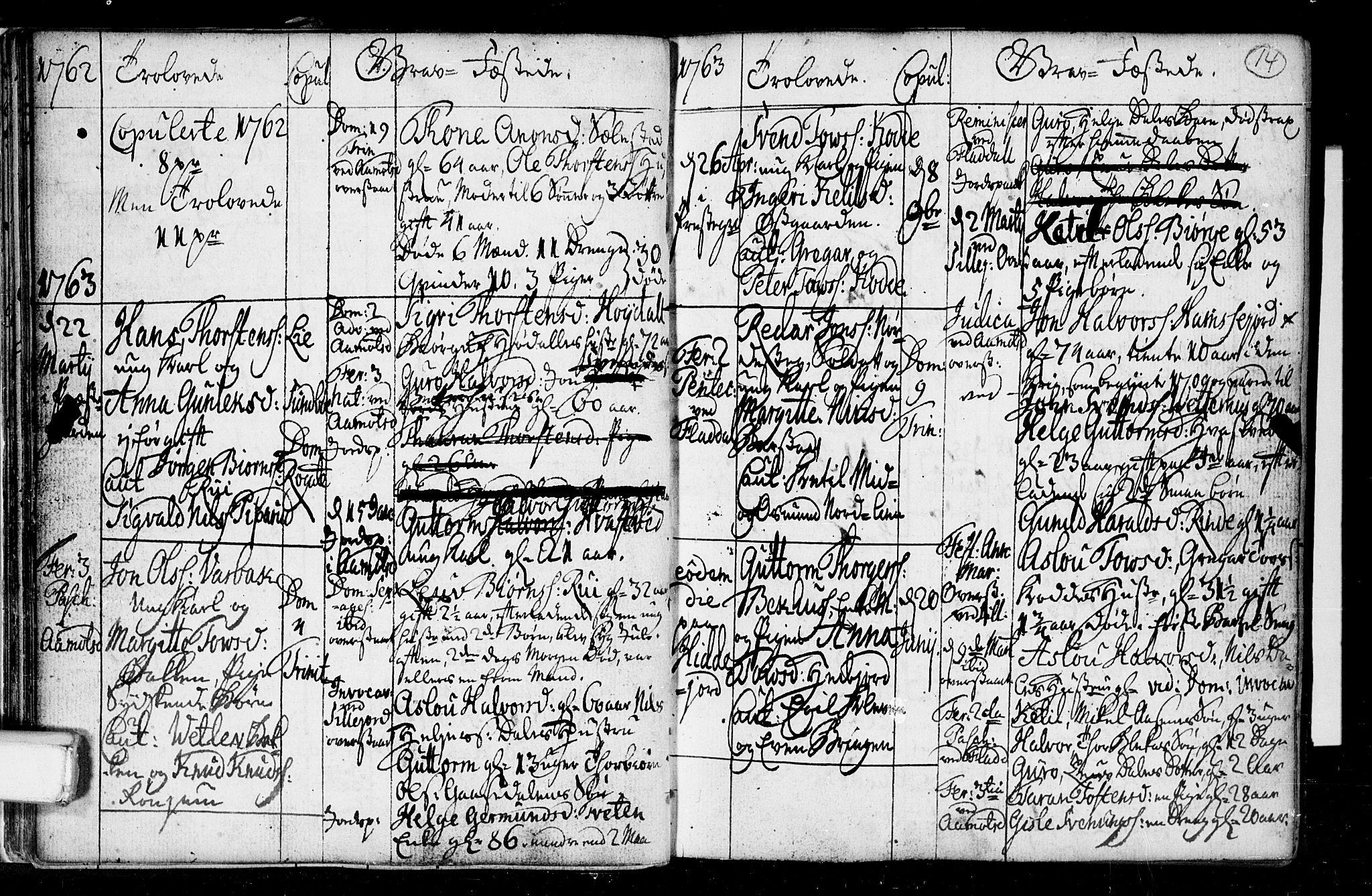 SAKO, Seljord kirkebøker, F/Fa/L0008: Ministerialbok nr. I 8, 1755-1814, s. 14