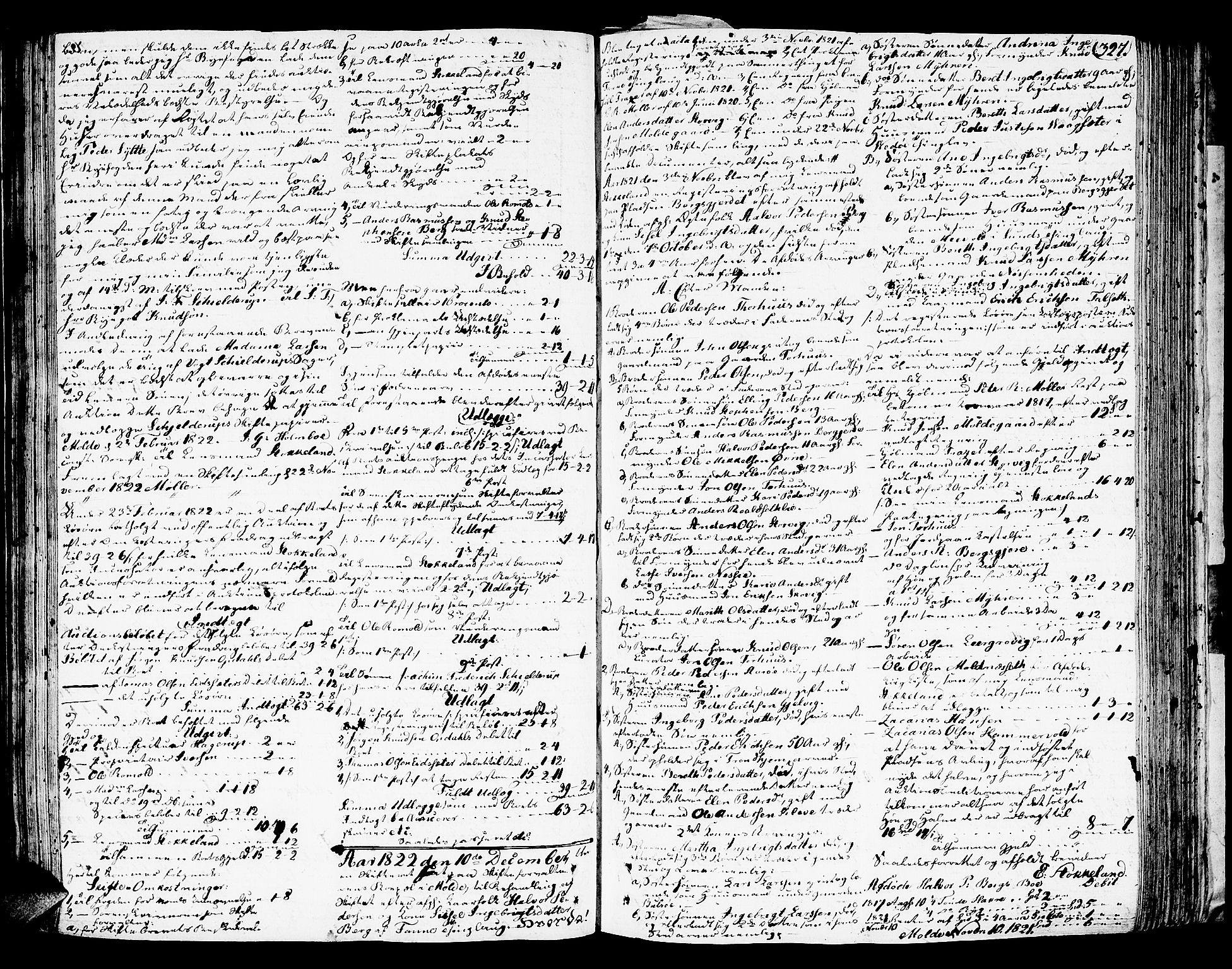 SAT, Romsdal sorenskriveri, 3/3A/L0015: Skifteutlodnings Protokoll 1, 1821-1823, s. 327