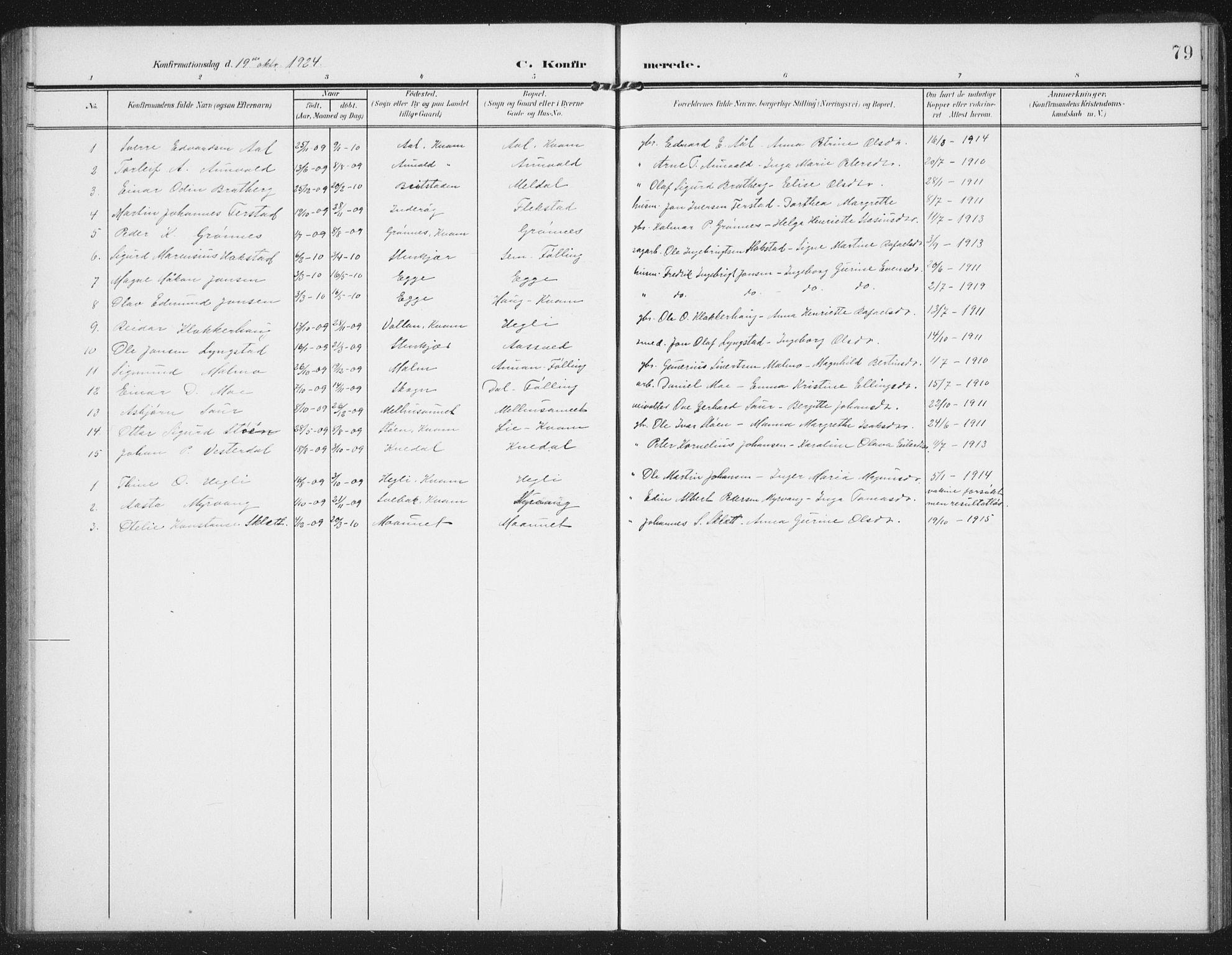 SAT, Ministerialprotokoller, klokkerbøker og fødselsregistre - Nord-Trøndelag, 747/L0460: Klokkerbok nr. 747C02, 1908-1939, s. 79