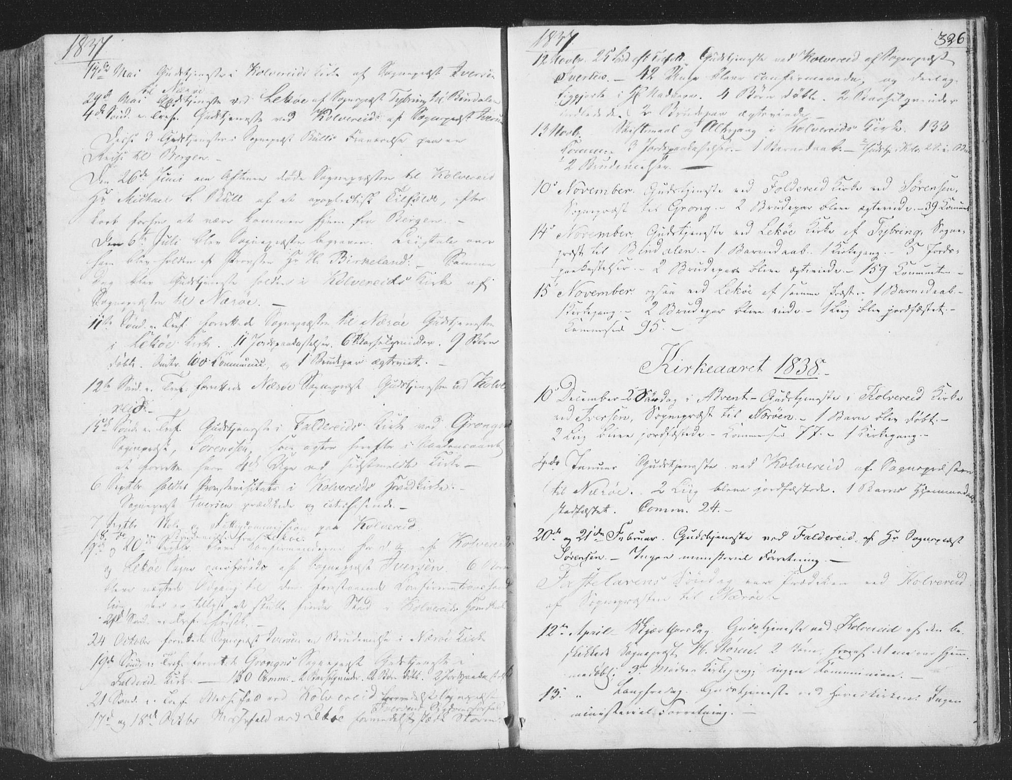 SAT, Ministerialprotokoller, klokkerbøker og fødselsregistre - Nord-Trøndelag, 780/L0639: Ministerialbok nr. 780A04, 1830-1844, s. 326