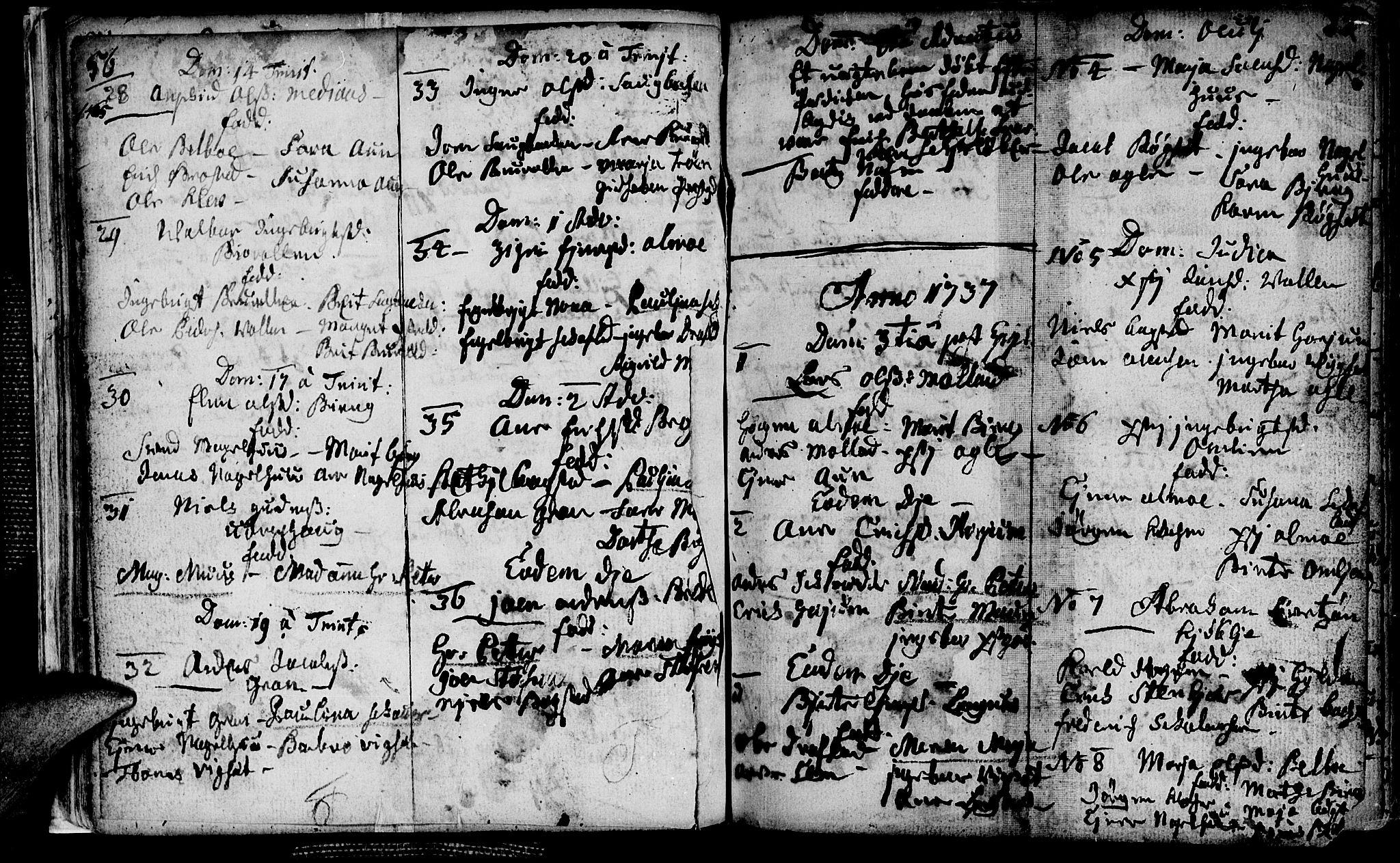 SAT, Ministerialprotokoller, klokkerbøker og fødselsregistre - Nord-Trøndelag, 749/L0467: Ministerialbok nr. 749A01, 1733-1787, s. 56-57
