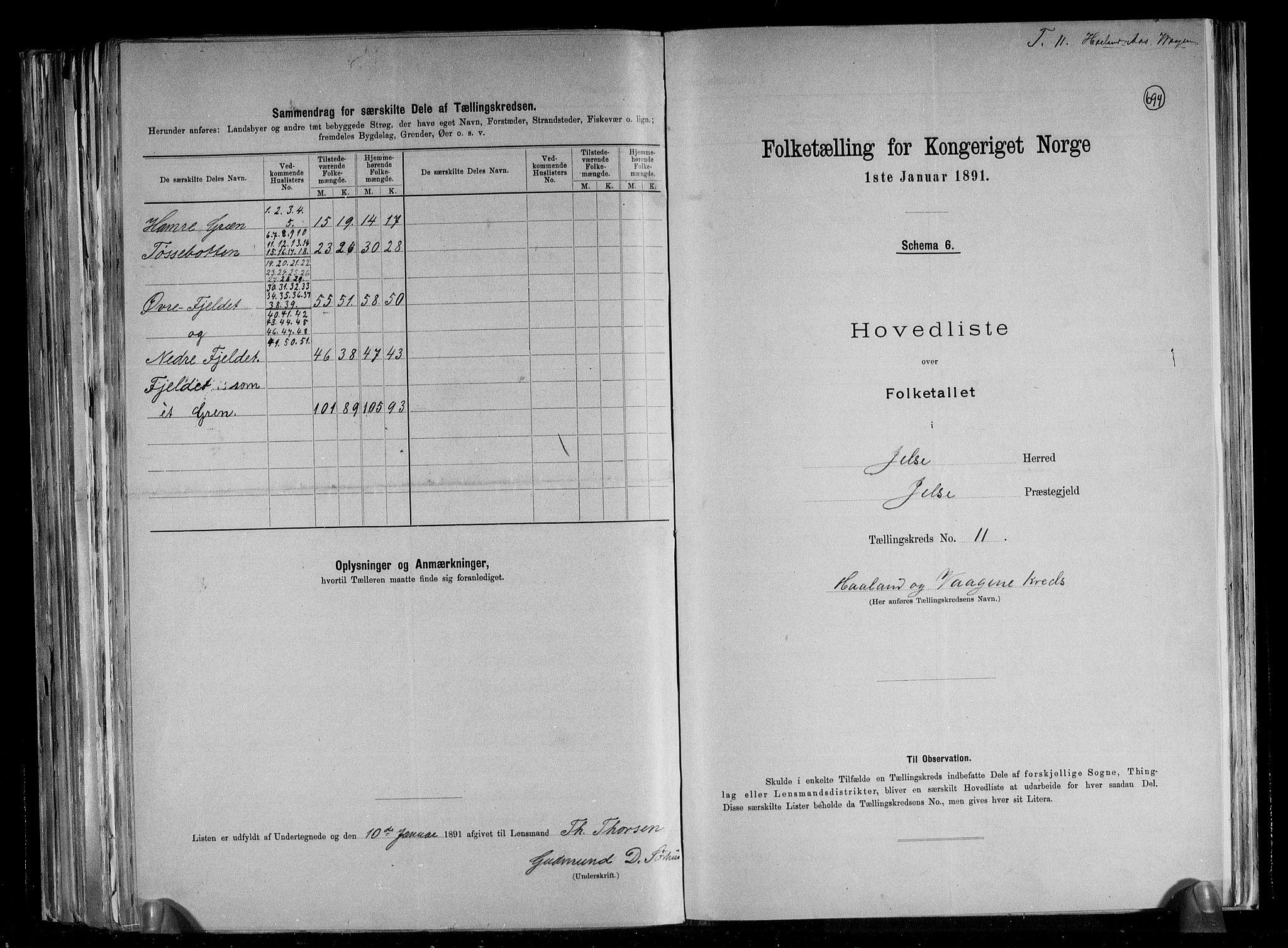 RA, Folketelling 1891 for 1138 Jelsa herred, 1891, s. 26