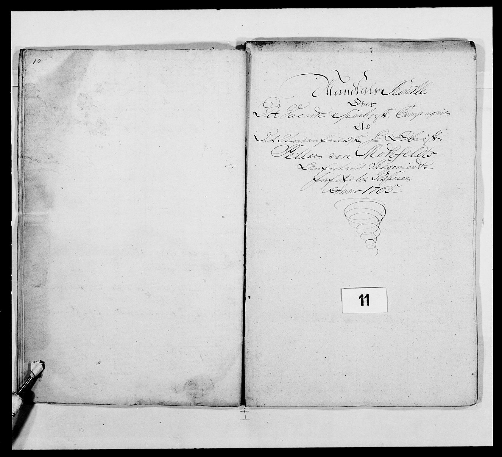 RA, Kommanderende general (KG I) med Det norske krigsdirektorium, E/Ea/L0483: Nordafjelske dragonregiment, 1765-1767, s. 241