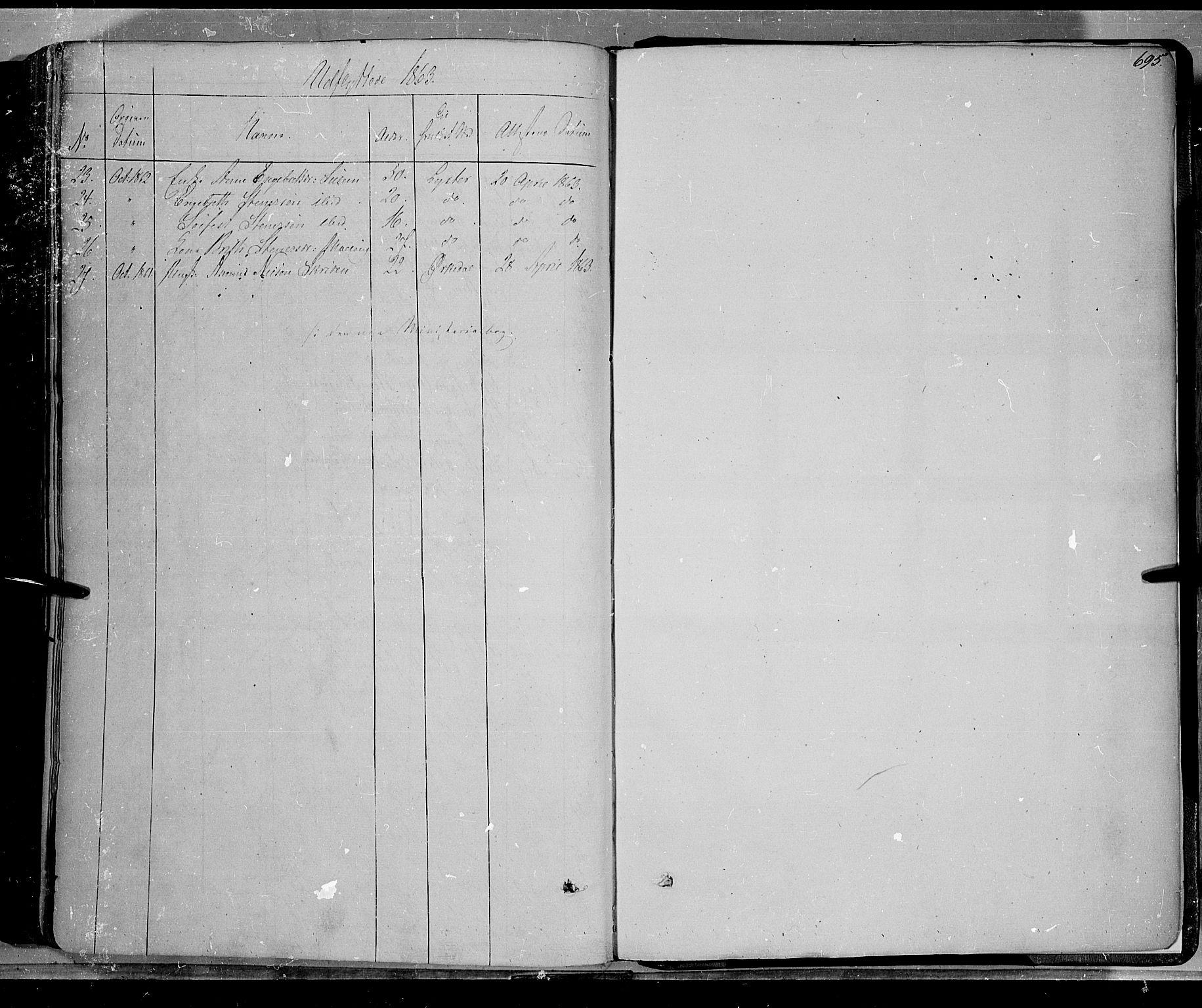 SAH, Lom prestekontor, K/L0006: Ministerialbok nr. 6B, 1837-1863, s. 695