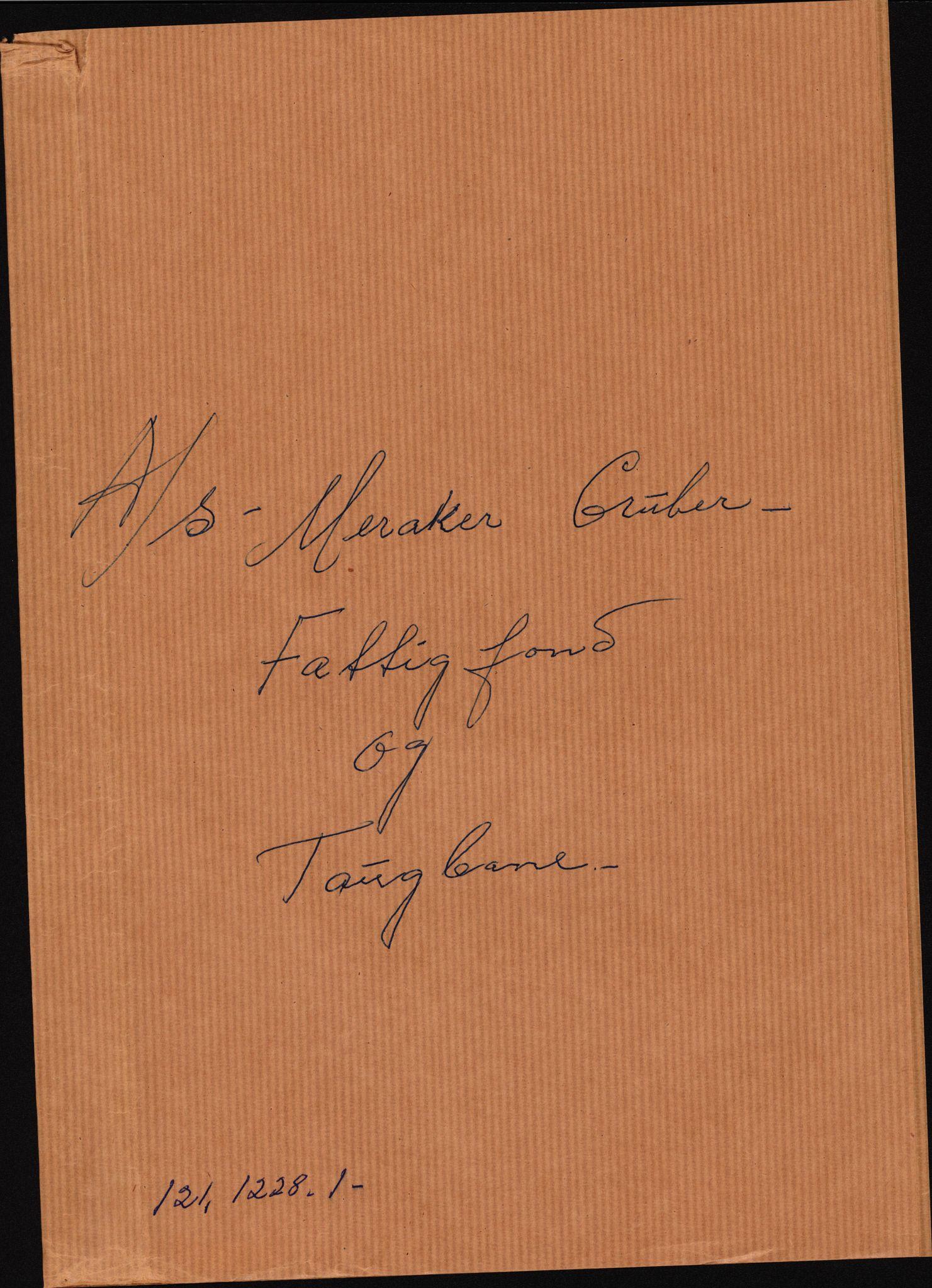 RA, Handels- og industridepartementet, Industrikontoret A, I, D/Df/L0067: --, 1905-1935