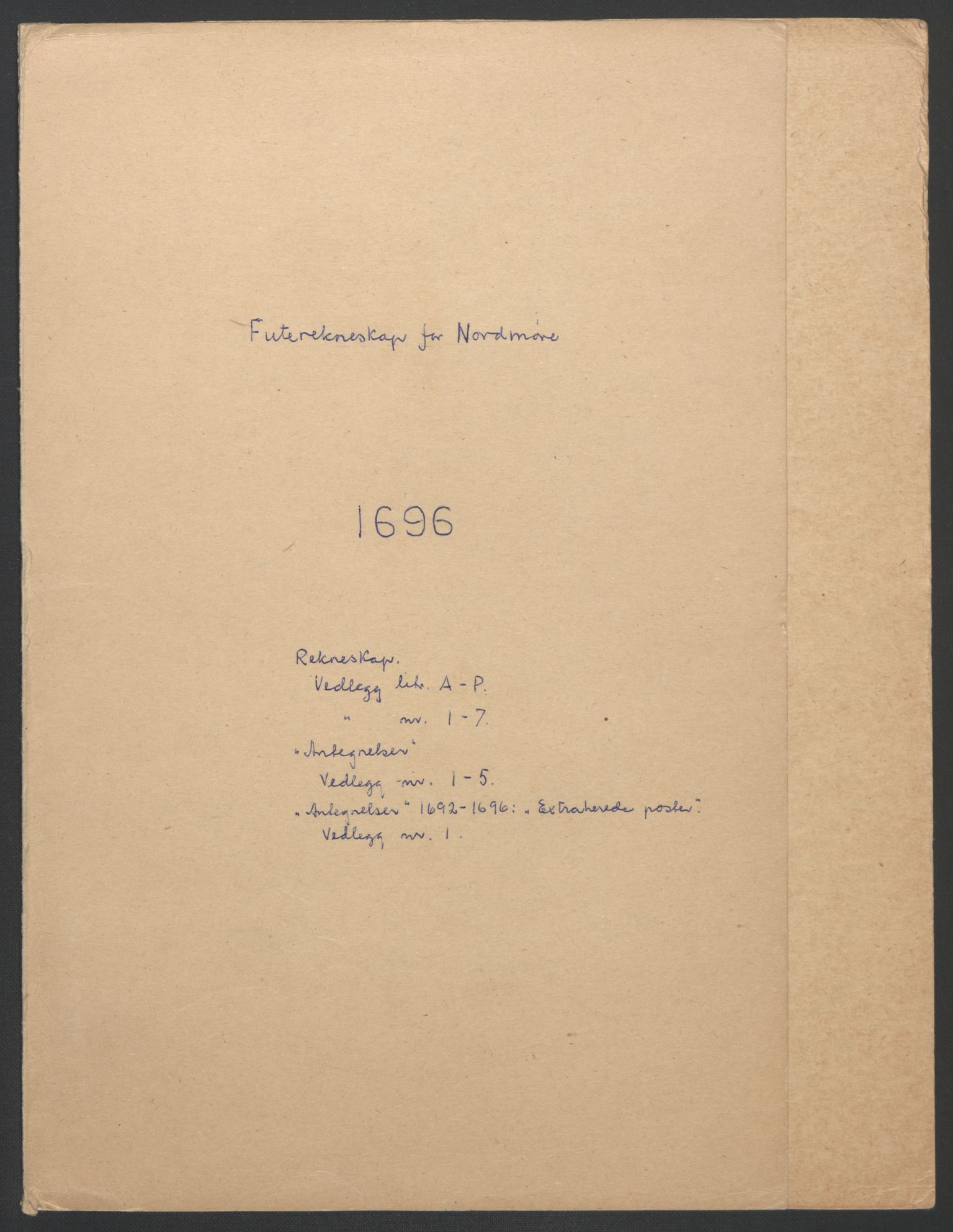 RA, Rentekammeret inntil 1814, Reviderte regnskaper, Fogderegnskap, R56/L3736: Fogderegnskap Nordmøre, 1694-1696, s. 336