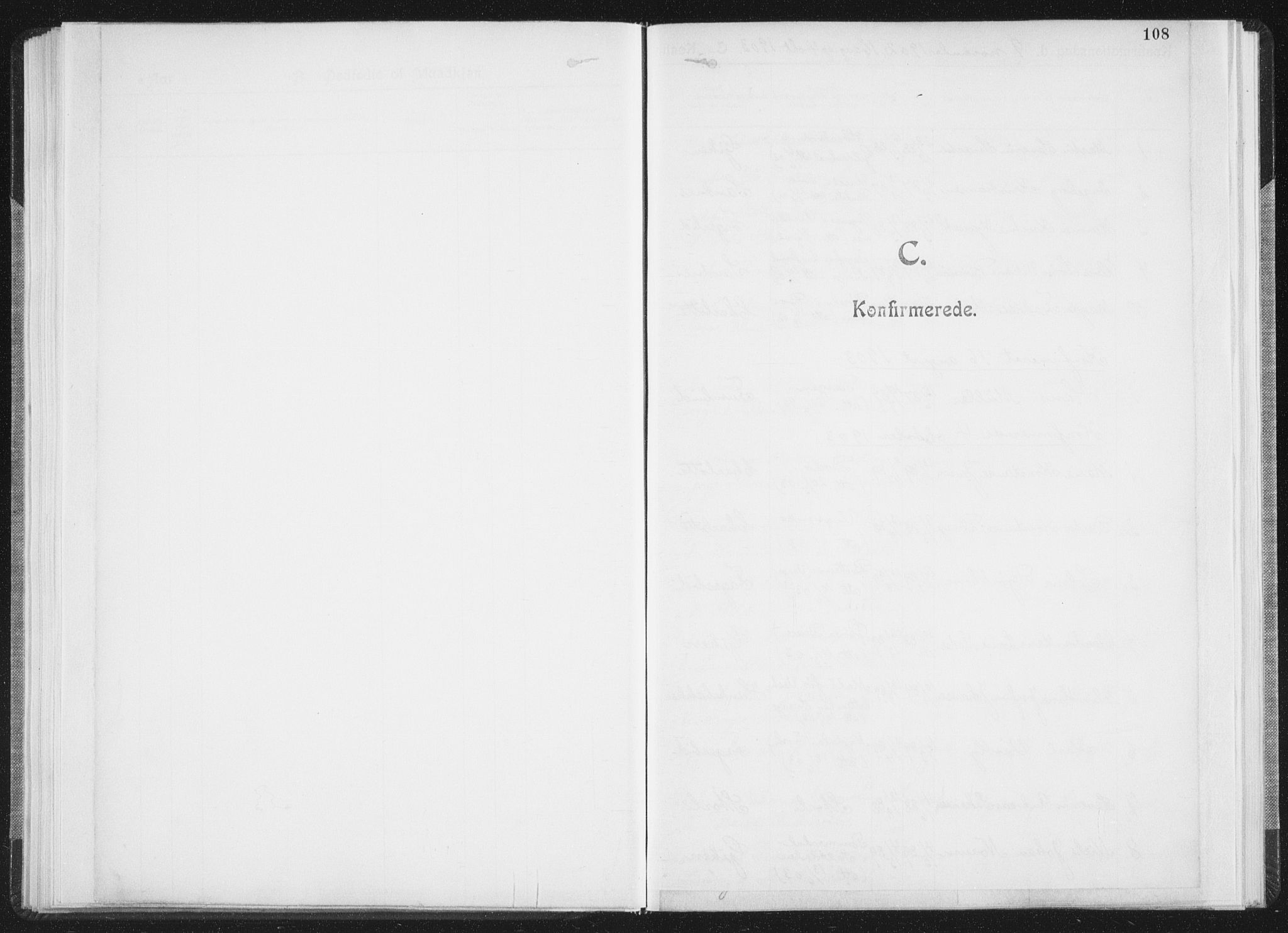 SAT, Ministerialprotokoller, klokkerbøker og fødselsregistre - Nordland, 850/L0711: Residerende kapellans bok nr. 850B01, 1902-1915, s. 108
