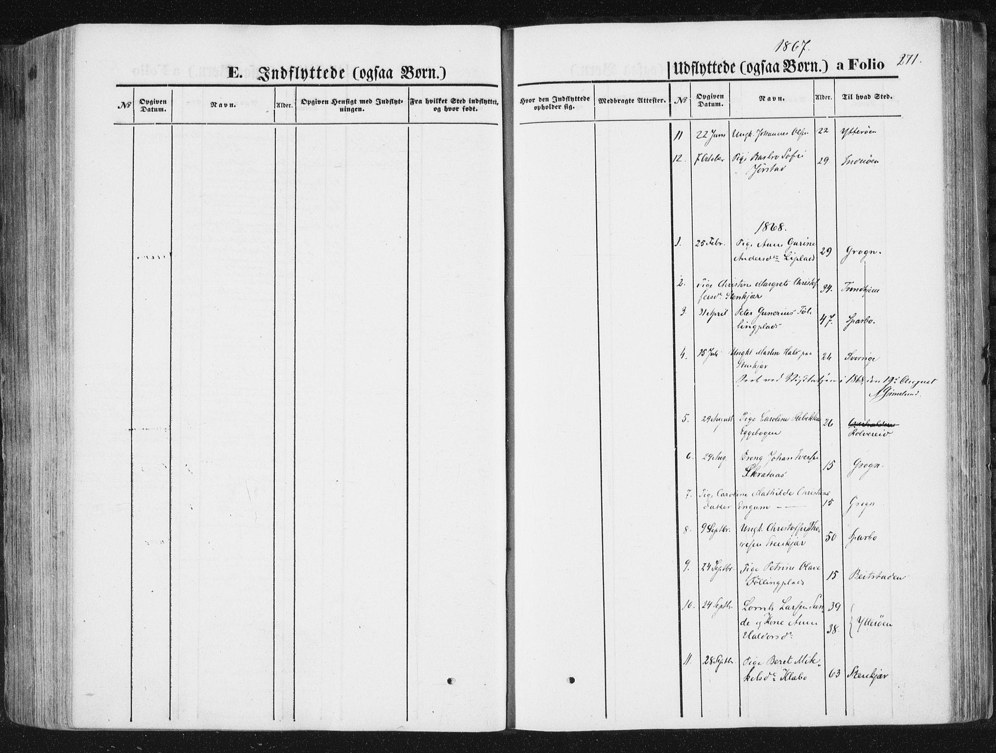 SAT, Ministerialprotokoller, klokkerbøker og fødselsregistre - Nord-Trøndelag, 746/L0447: Ministerialbok nr. 746A06, 1860-1877, s. 271