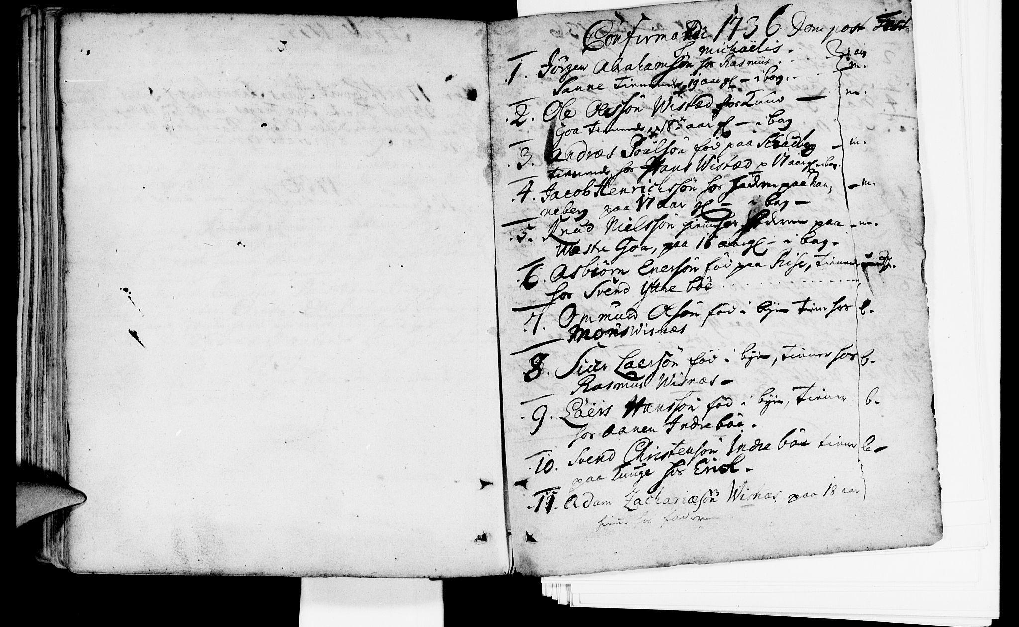 SAST, Domkirken sokneprestkontor, 30/30BA/L0002: Ministerialbok nr. A 2 /2, 1727-1737