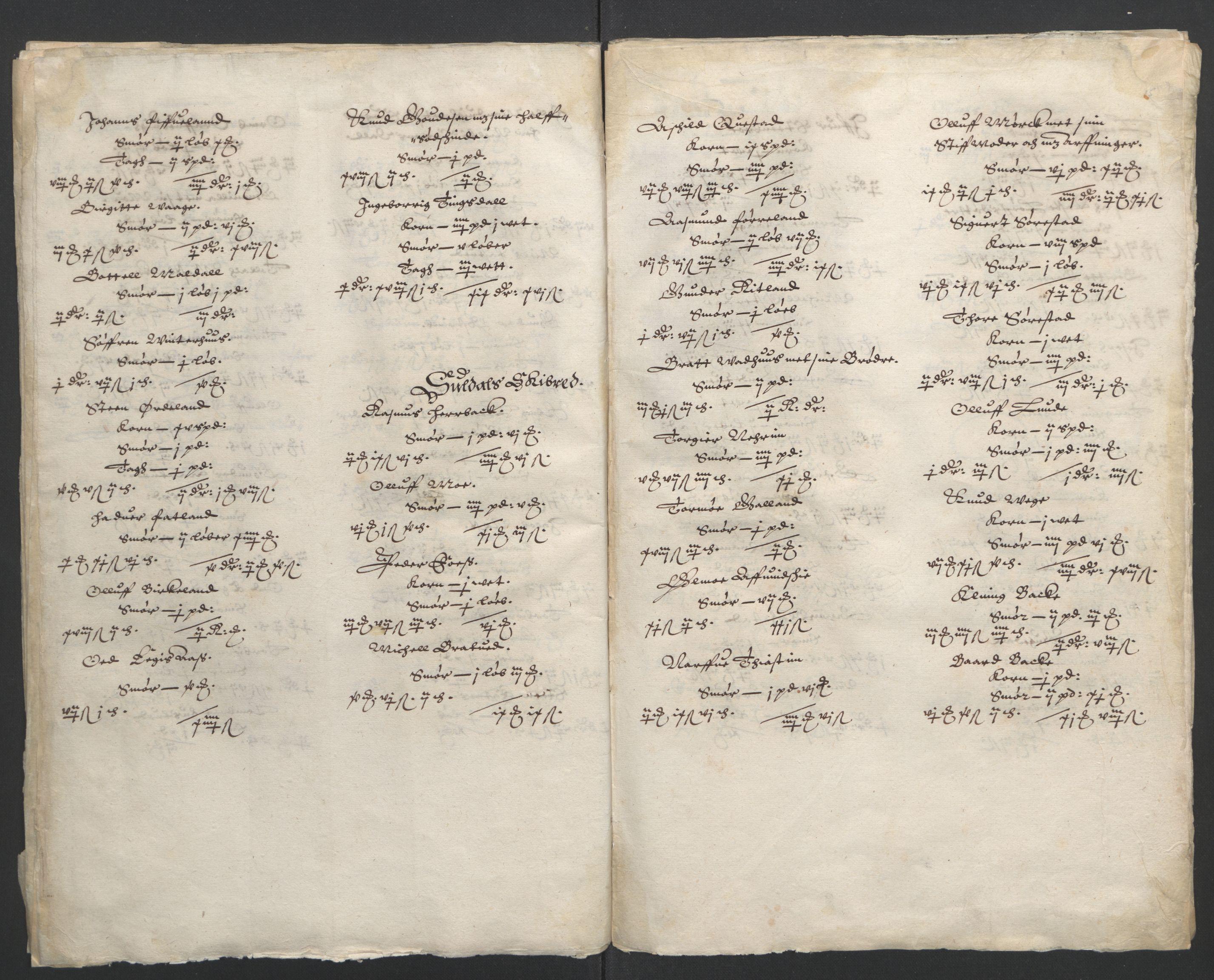 RA, Stattholderembetet 1572-1771, Ek/L0010: Jordebøker til utlikning av rosstjeneste 1624-1626:, 1624-1626, s. 80