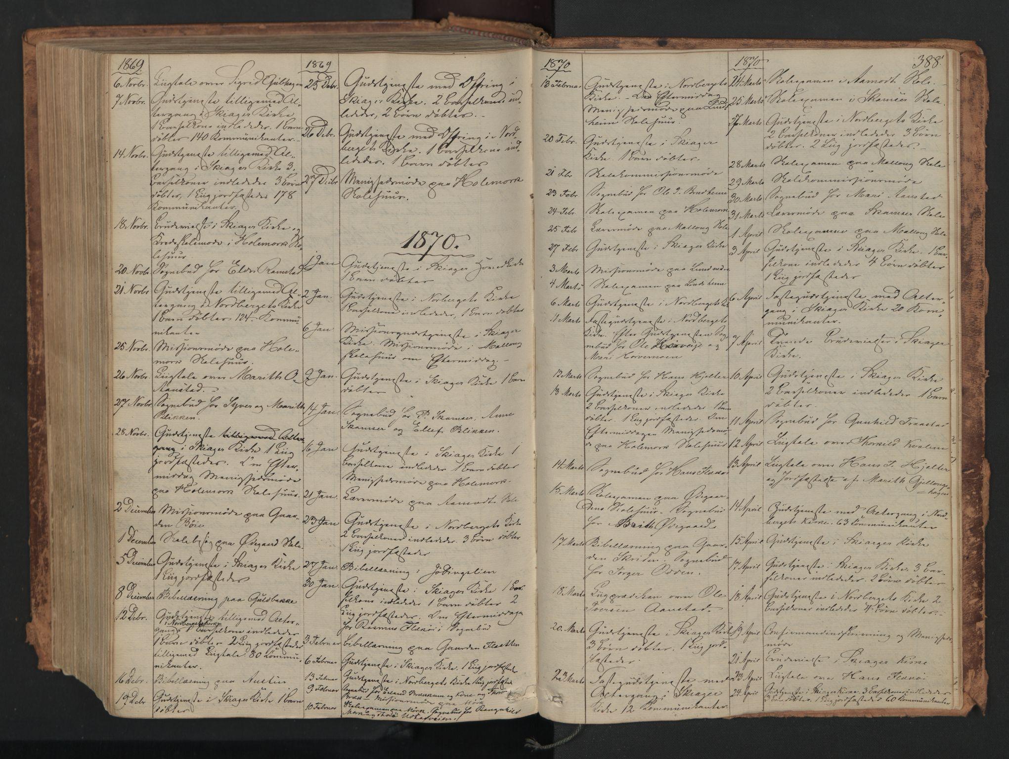 SAH, Skjåk prestekontor, Ministerialbok nr. 1, 1863-1879, s. 388
