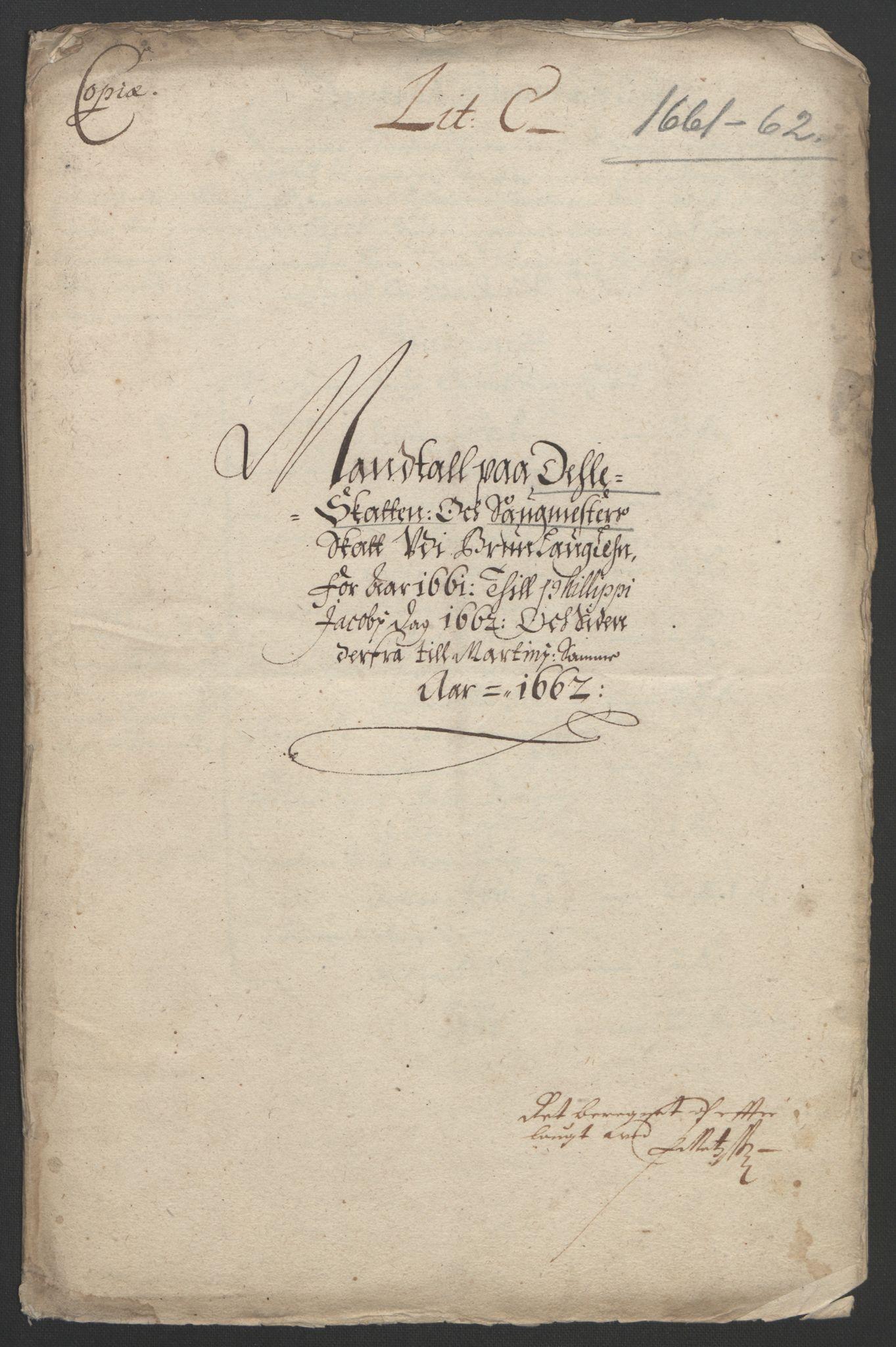 RA, Rentekammeret inntil 1814, Reviderte regnskaper, Fogderegnskap, R33/L1963: Fogderegnskap Larvik grevskap, 1662-1664, s. 64