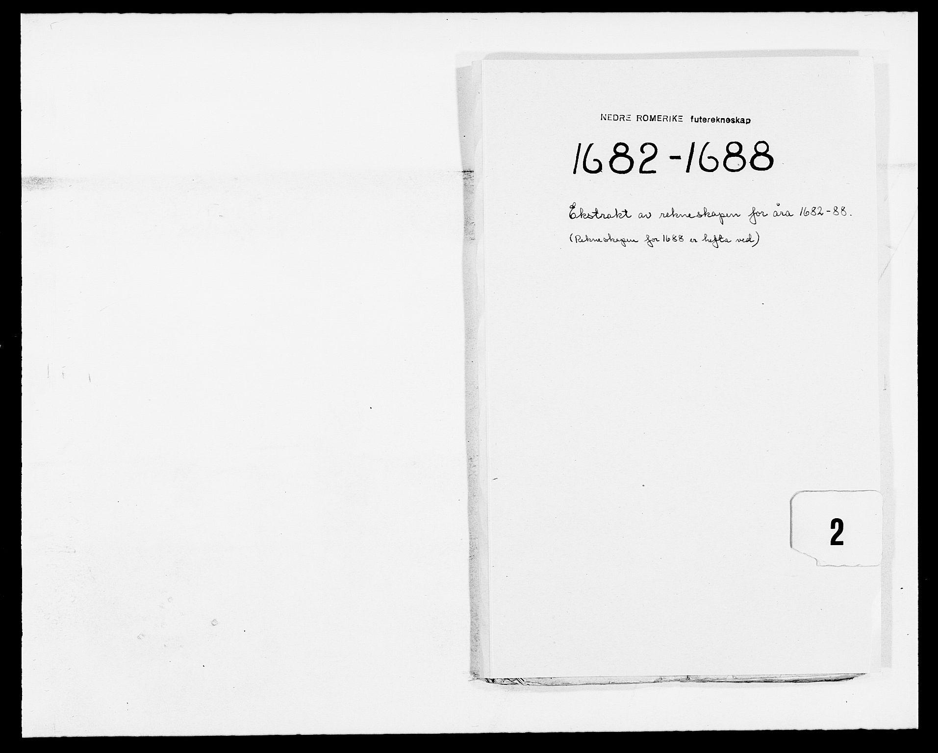 RA, Rentekammeret inntil 1814, Reviderte regnskaper, Fogderegnskap, R11/L0573: Fogderegnskap Nedre Romerike, 1679-1688, s. 154