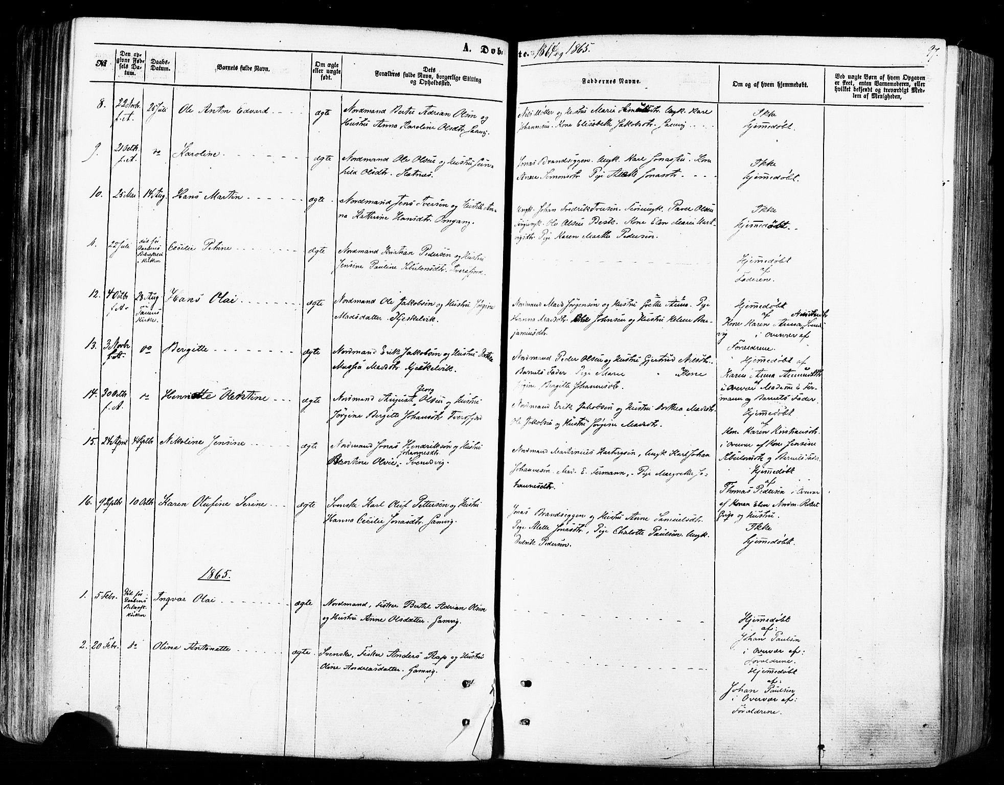 SATØ, Tana sokneprestkontor, H/Ha/L0002kirke: Ministerialbok nr. 2 /2, 1862-1877, s. 97