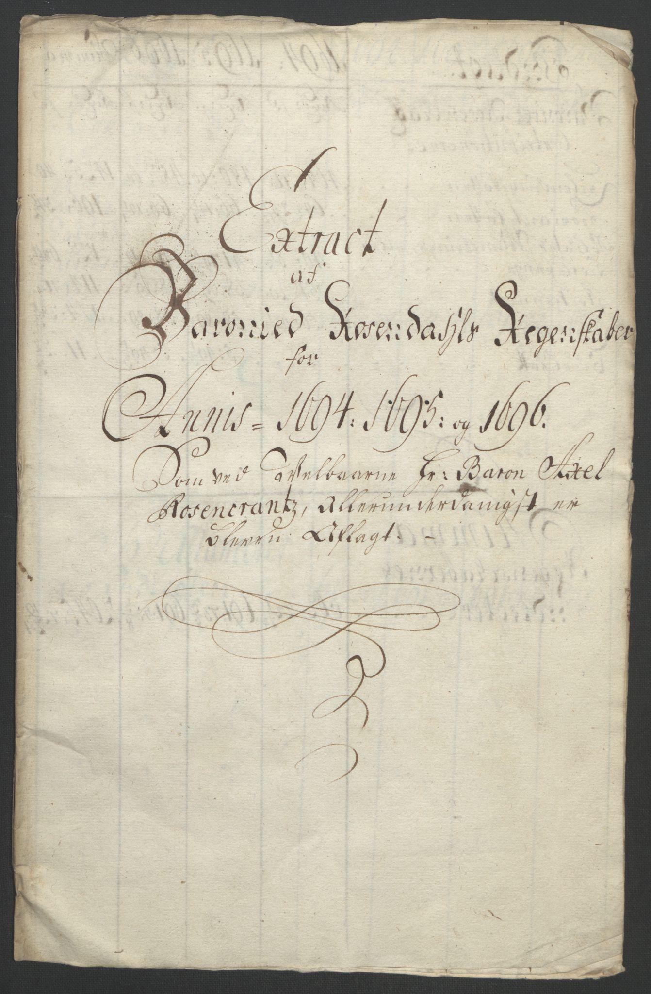 RA, Rentekammeret inntil 1814, Reviderte regnskaper, Fogderegnskap, R49/L3138: Fogderegnskap Rosendal Baroni, 1691-1714, s. 51
