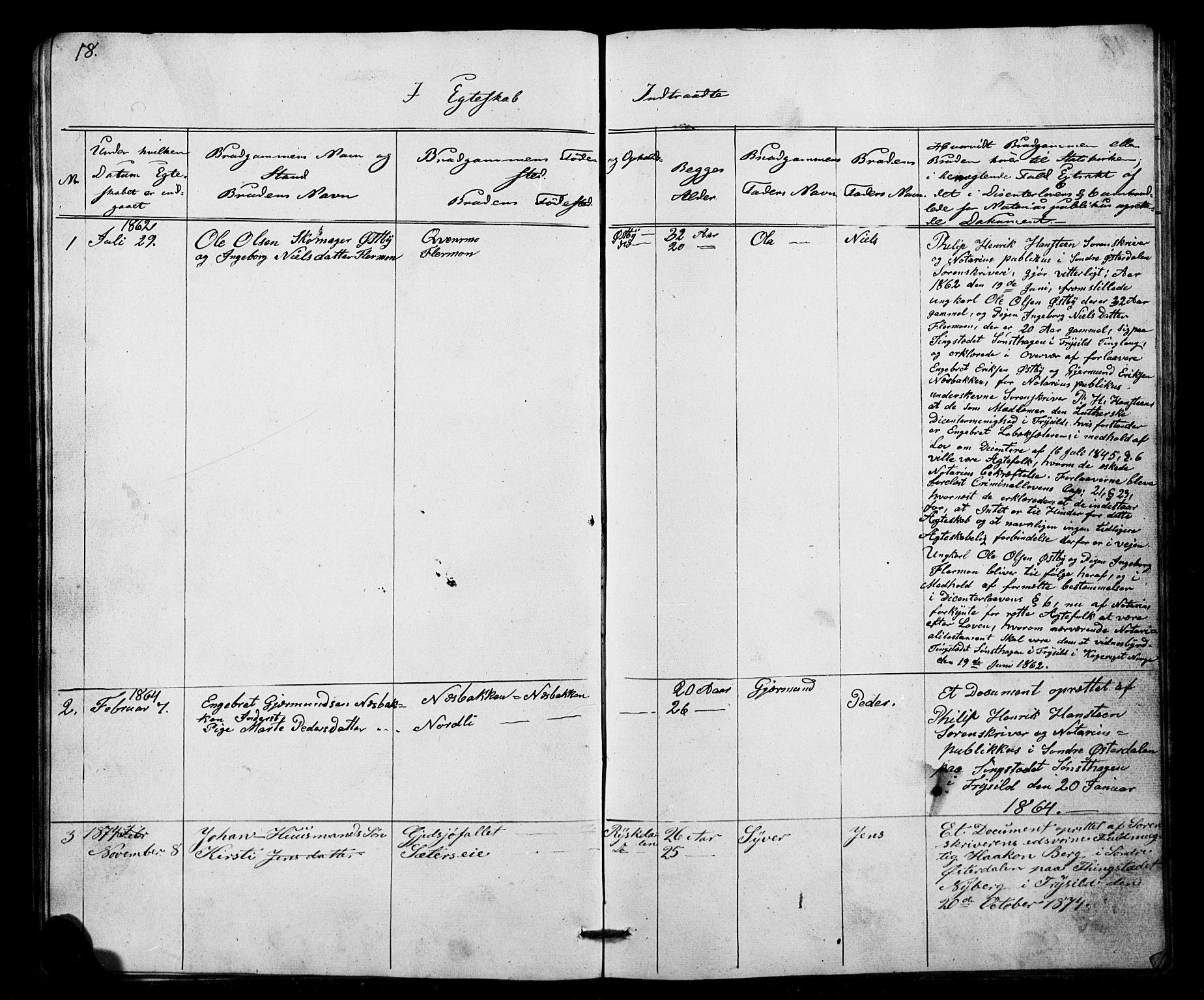 SAH, Misjonsforbundet, 01/L0001: Dissenterprotokoll nr. 1, 1858-1881, s. 18