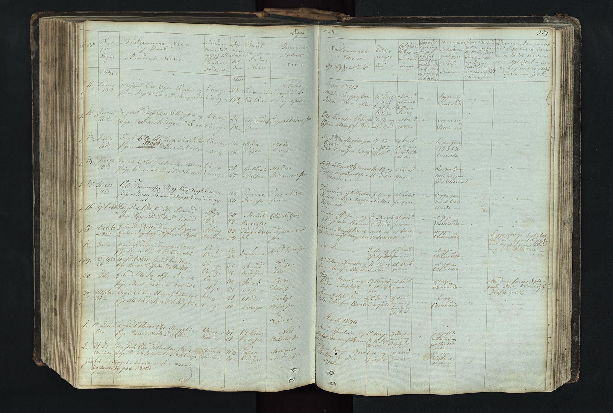 SAH, Vang prestekontor, Valdres, Klokkerbok nr. 4, 1835-1892, s. 329