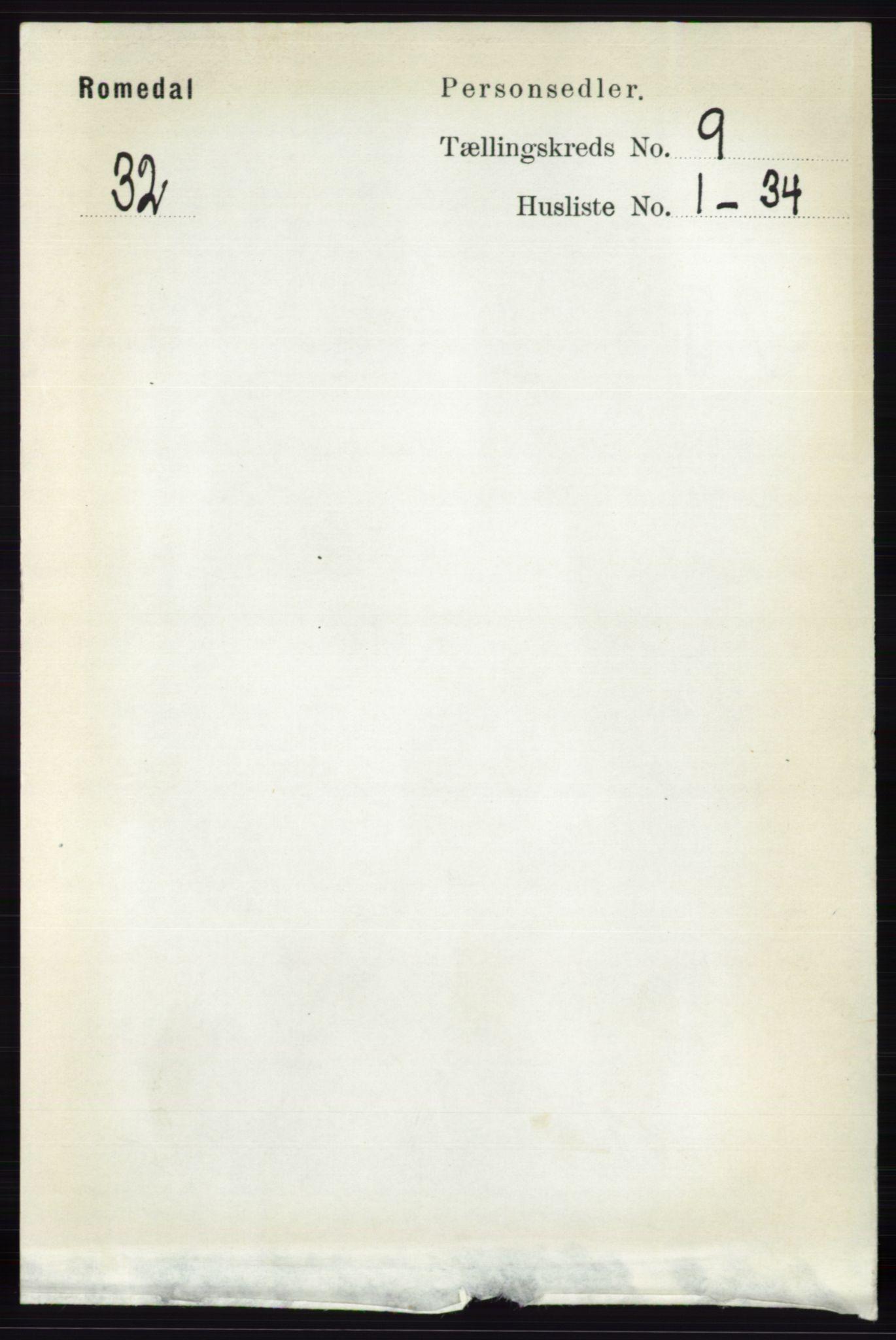 RA, Folketelling 1891 for 0416 Romedal herred, 1891, s. 4320