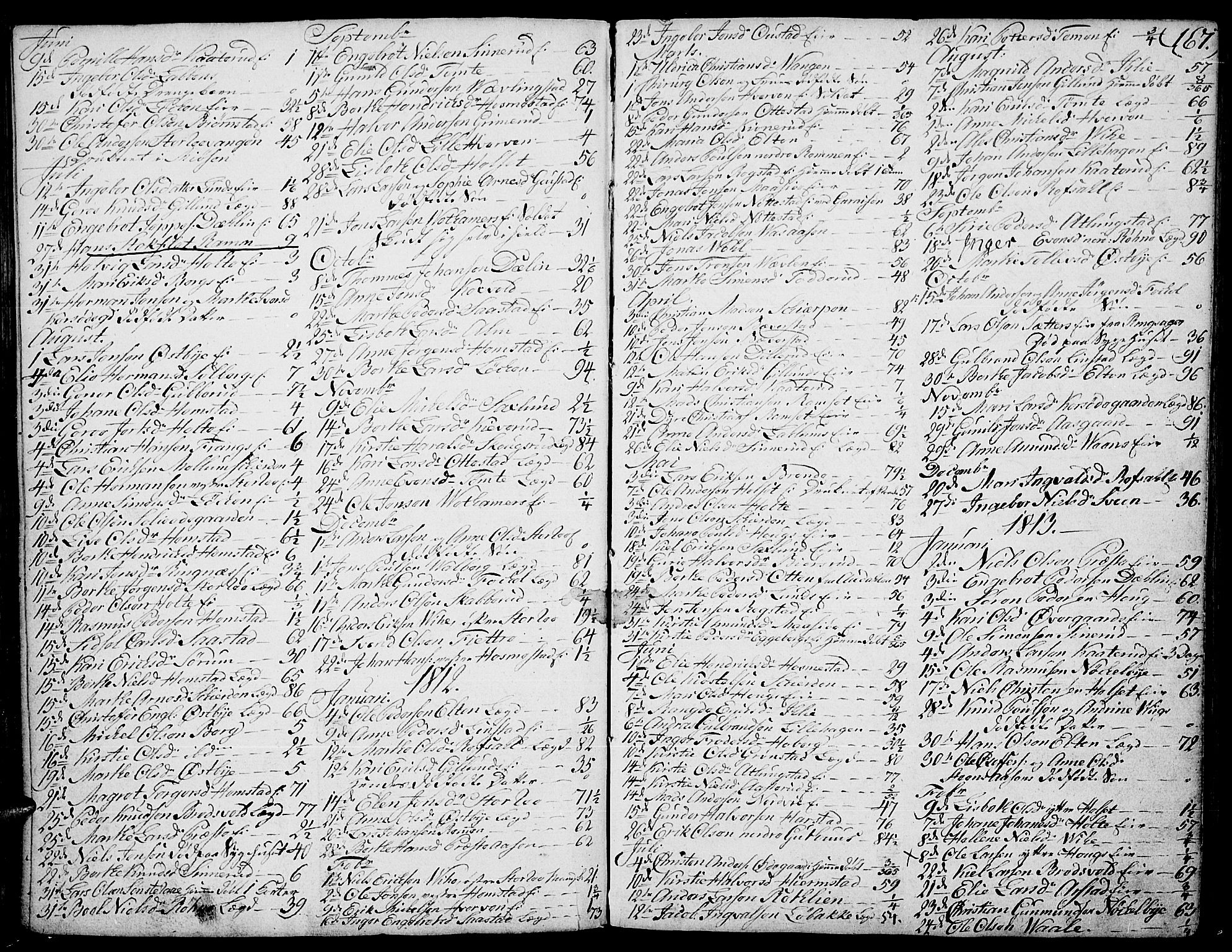 SAH, Stange prestekontor, K/L0007: Ministerialbok nr. 7, 1788-1813, s. 166-167