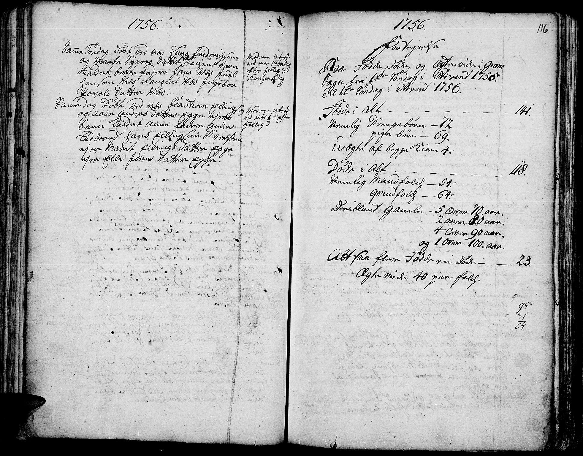 SAH, Gran prestekontor, Ministerialbok nr. 3, 1745-1758, s. 116