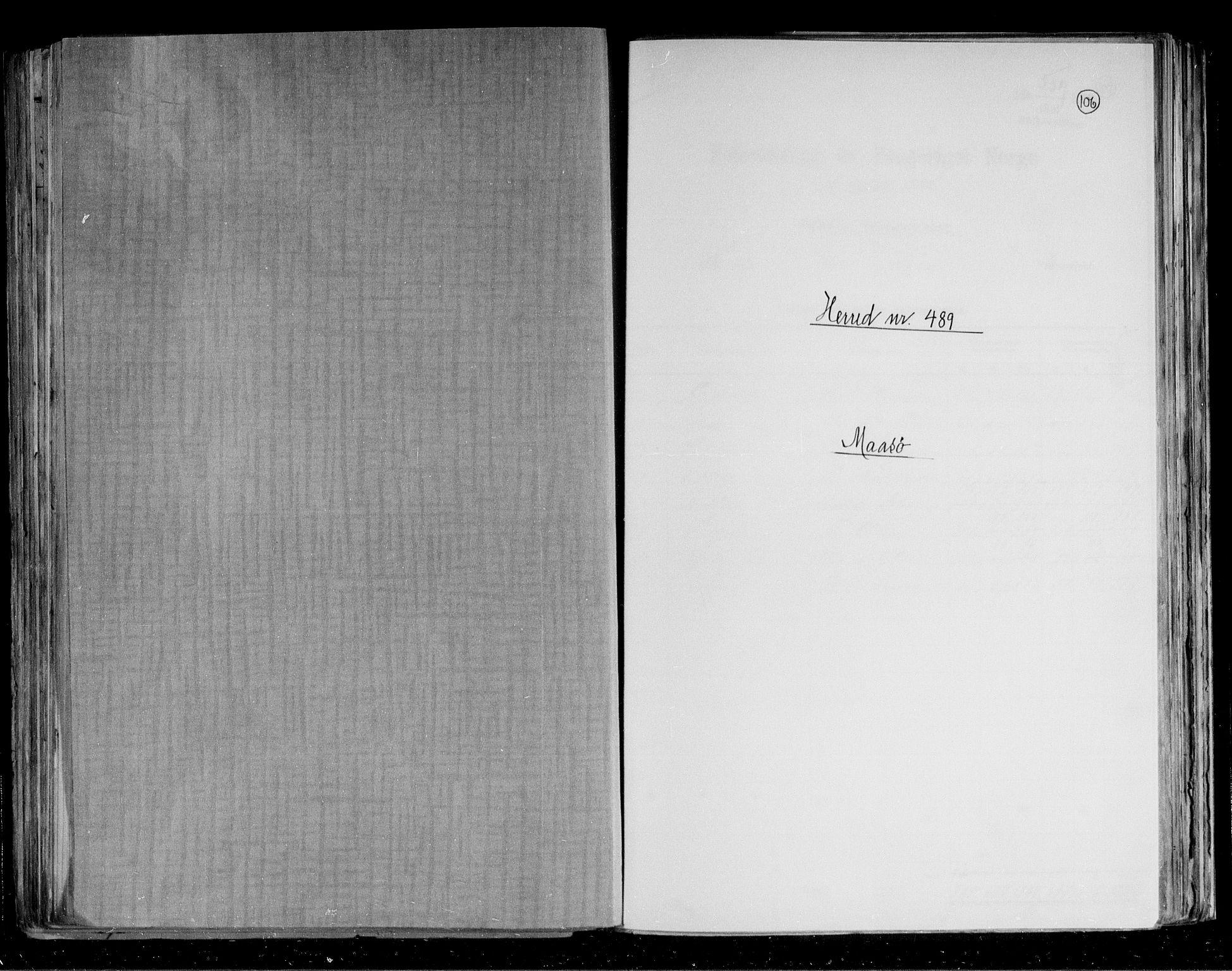 RA, Folketelling 1891 for 2018 Måsøy herred, 1891, s. 1