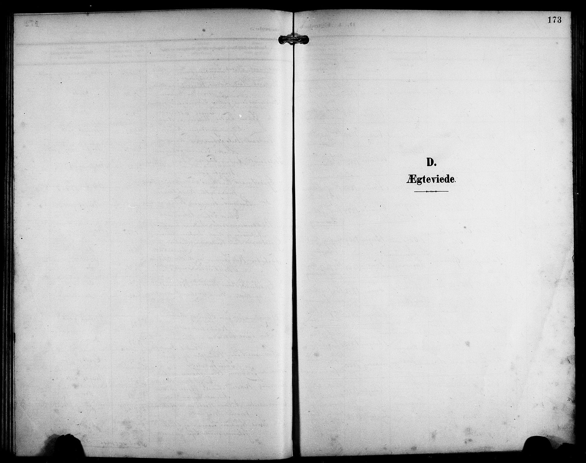 SAB, Laksevåg Sokneprestembete, H/Ha/Hab/Haba/L0004: Klokkerbok nr. A 4, 1899-1909, s. 173