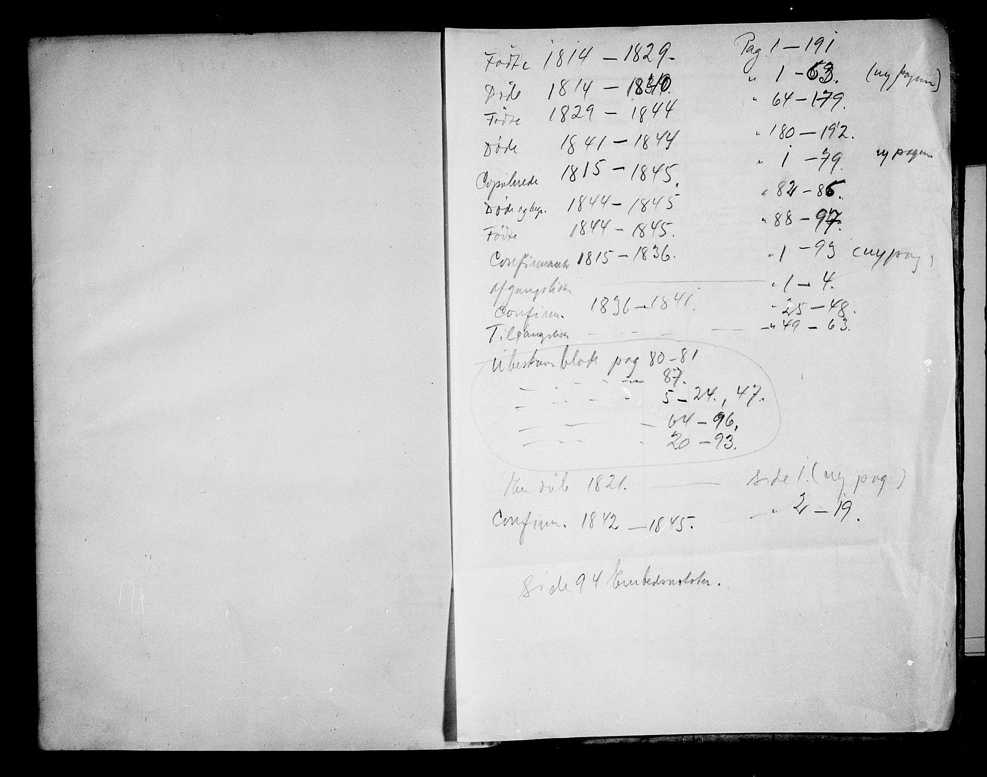 SAKO, Borre kirkebøker, F/Fa/L0004: Ministerialbok nr. I 4, 1815-1845