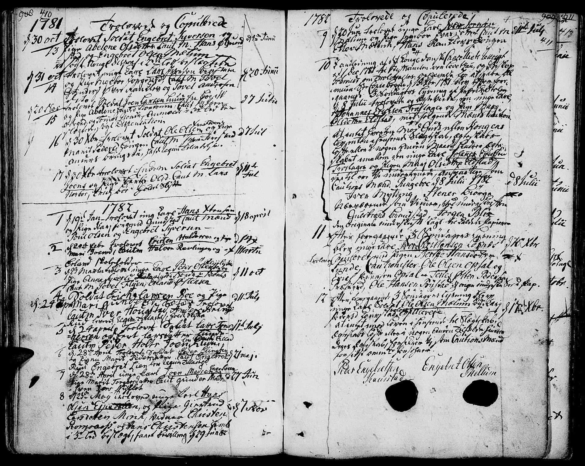 SAH, Ringebu prestekontor, Ministerialbok nr. 3, 1781-1820, s. 410-411