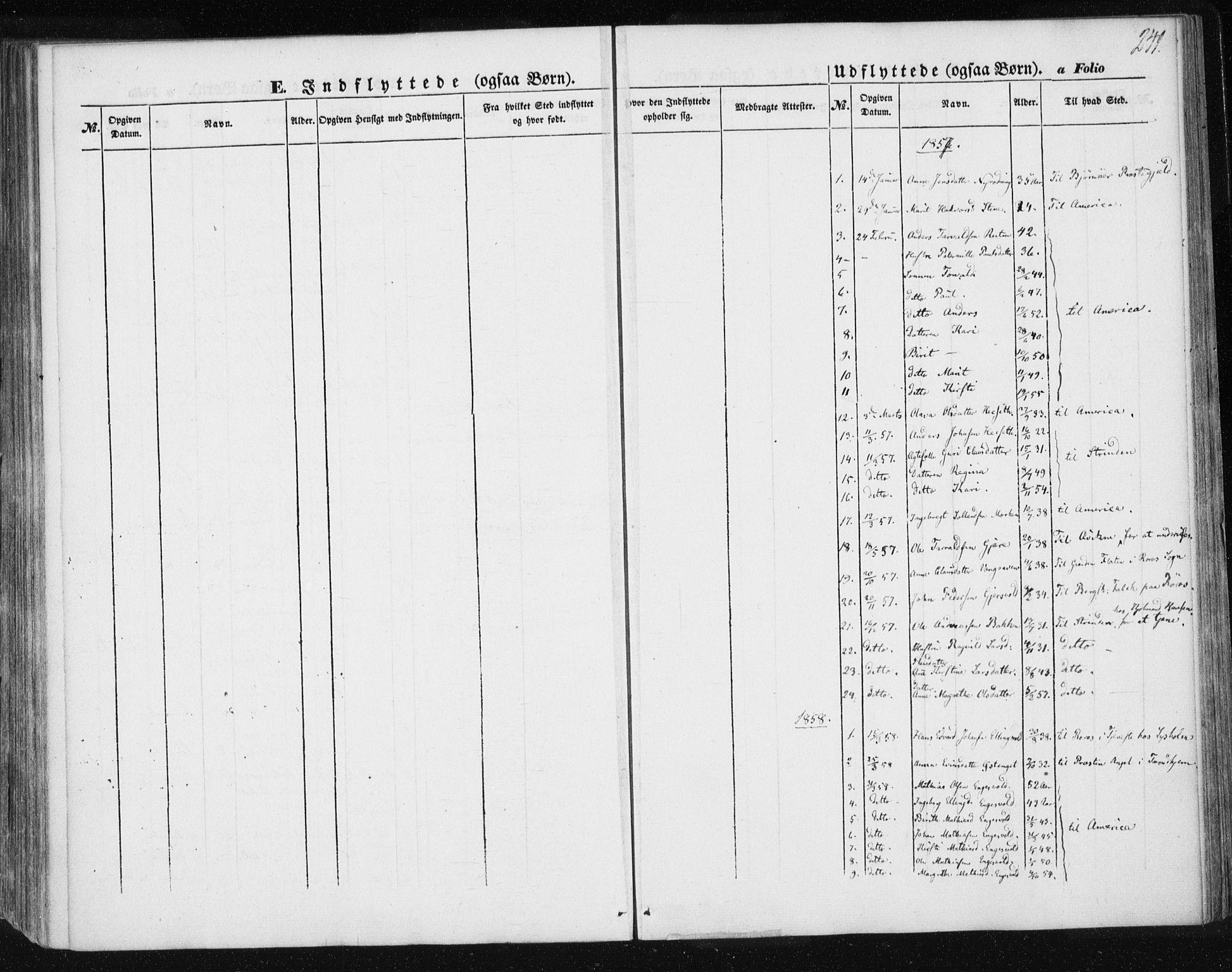 SAT, Ministerialprotokoller, klokkerbøker og fødselsregistre - Sør-Trøndelag, 685/L0965: Ministerialbok nr. 685A06 /3, 1846-1859, s. 241