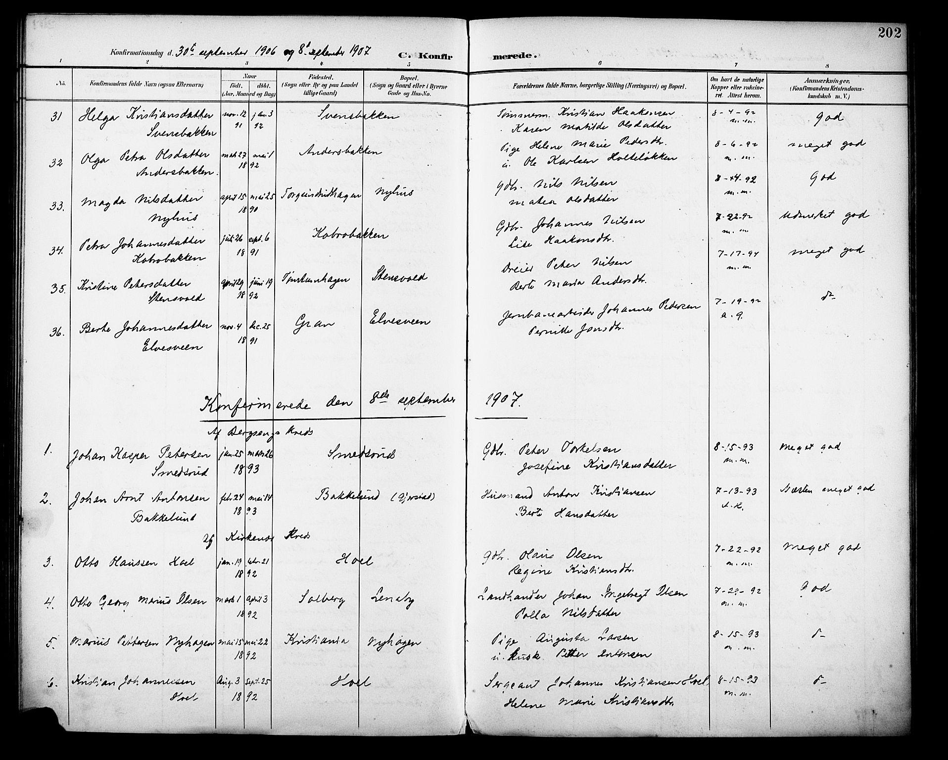SAH, Vestre Toten prestekontor, Ministerialbok nr. 13, 1895-1911, s. 202