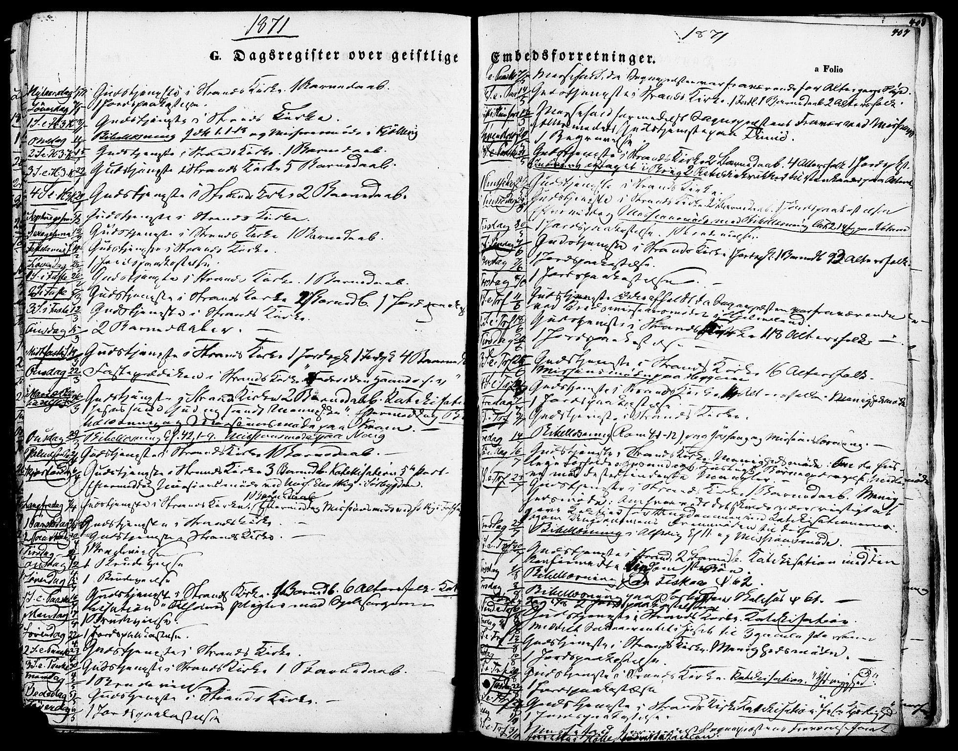 SAST, Strand sokneprestkontor, H/Ha/Haa/L0007: Ministerialbok nr. A 7, 1855-1881, s. 407