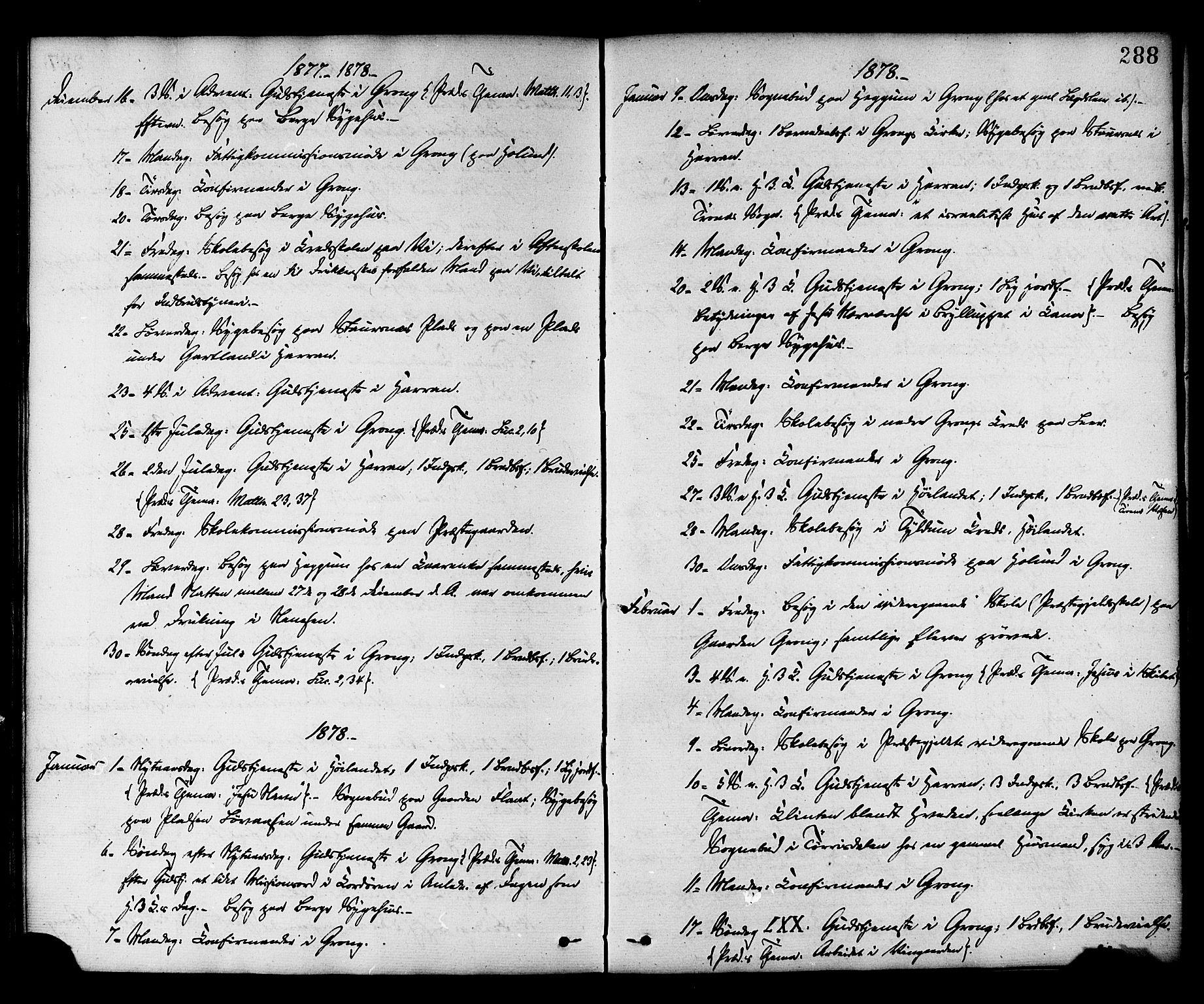 SAT, Ministerialprotokoller, klokkerbøker og fødselsregistre - Nord-Trøndelag, 758/L0516: Ministerialbok nr. 758A03 /1, 1869-1879, s. 288