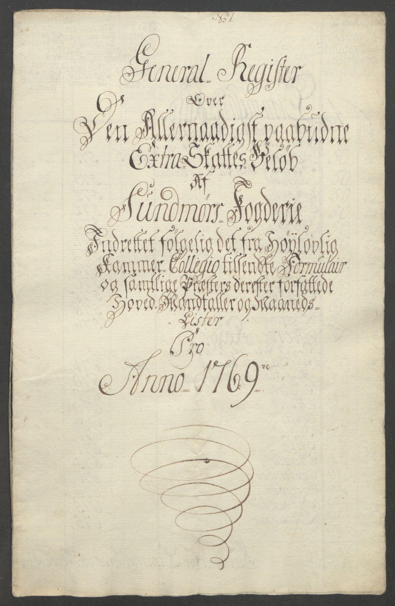 RA, Rentekammeret inntil 1814, Reviderte regnskaper, Fogderegnskap, R54/L3645: Ekstraskatten Sunnmøre, 1762-1772, s. 146