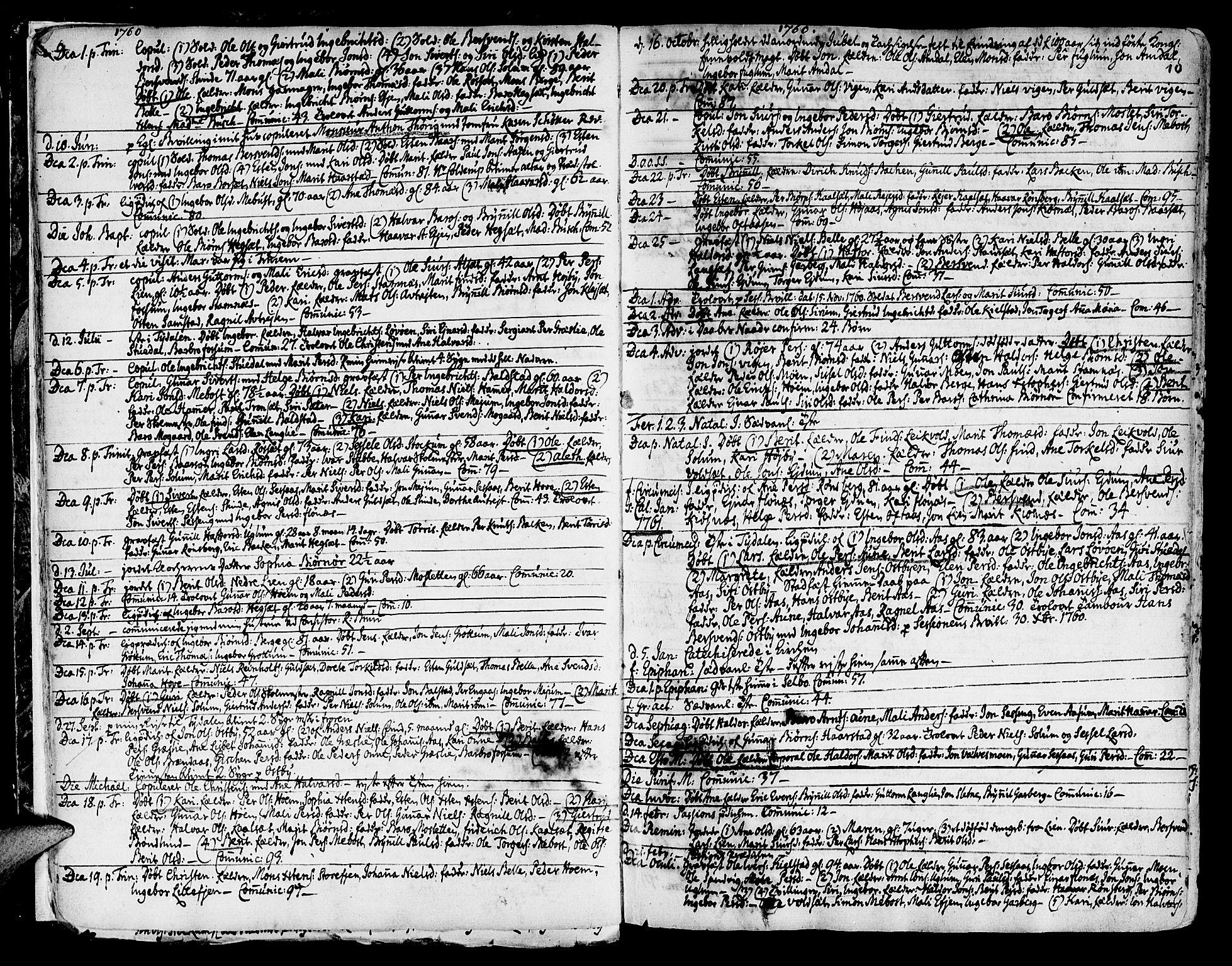 SAT, Ministerialprotokoller, klokkerbøker og fødselsregistre - Sør-Trøndelag, 695/L1138: Ministerialbok nr. 695A02 /1, 1757-1801, s. 10