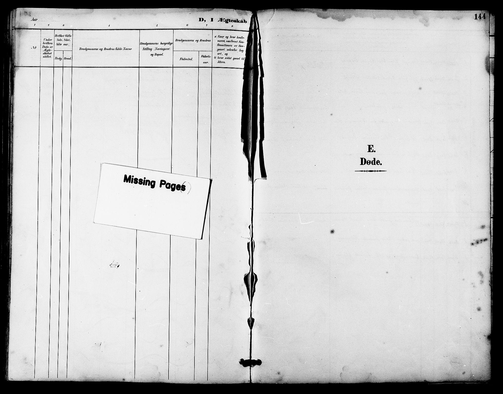 SAT, Ministerialprotokoller, klokkerbøker og fødselsregistre - Sør-Trøndelag, 641/L0598: Klokkerbok nr. 641C02, 1893-1910, s. 144