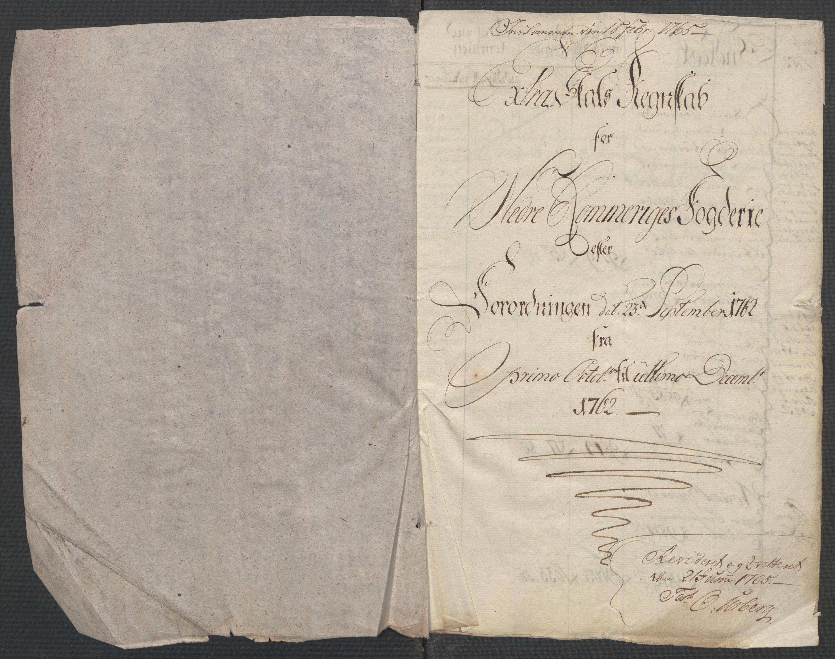 RA, Rentekammeret inntil 1814, Reviderte regnskaper, Fogderegnskap, R11/L0687: Ekstraskatten Nedre Romerike, 1762, s. 5