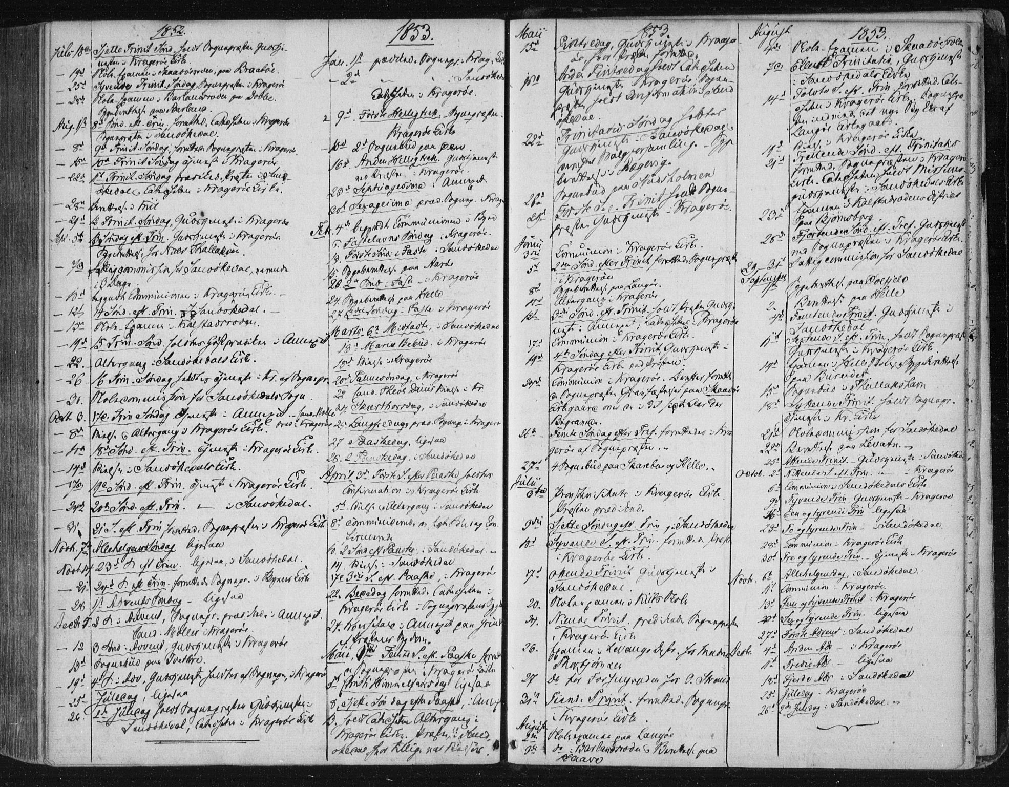 SAKO, Kragerø kirkebøker, F/Fa/L0006: Ministerialbok nr. 6, 1847-1861, s. 5