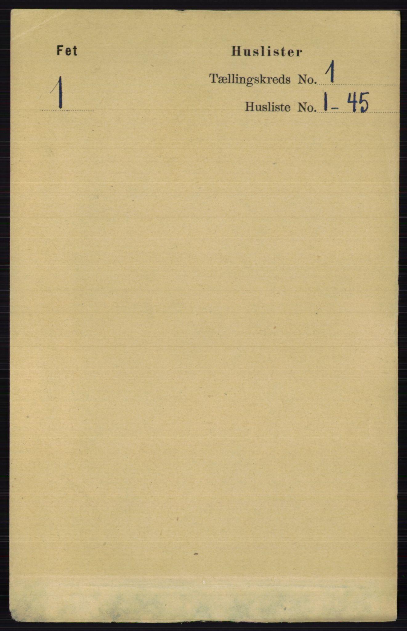 RA, Folketelling 1891 for 0227 Fet herred, 1891, s. 28