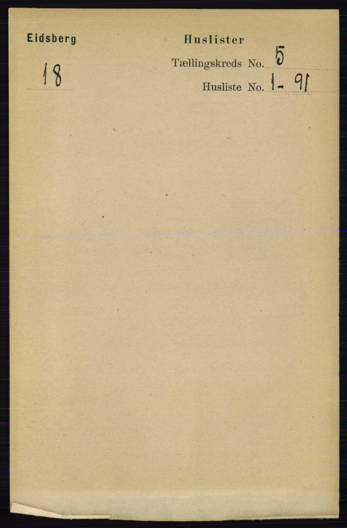 RA, Folketelling 1891 for 0125 Eidsberg herred, 1891, s. 2923