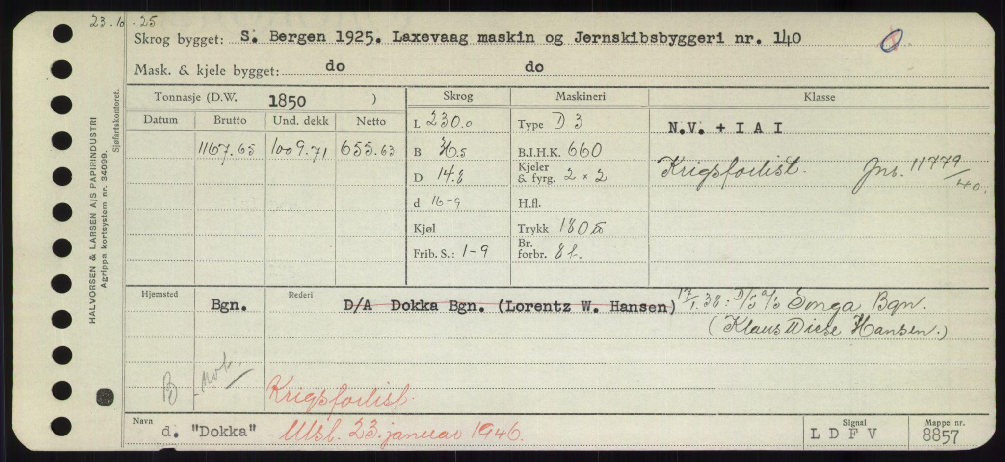 RA, Sjøfartsdirektoratet med forløpere, Skipsmålingen, H/Hd/L0008: Fartøy, C-D, s. 555