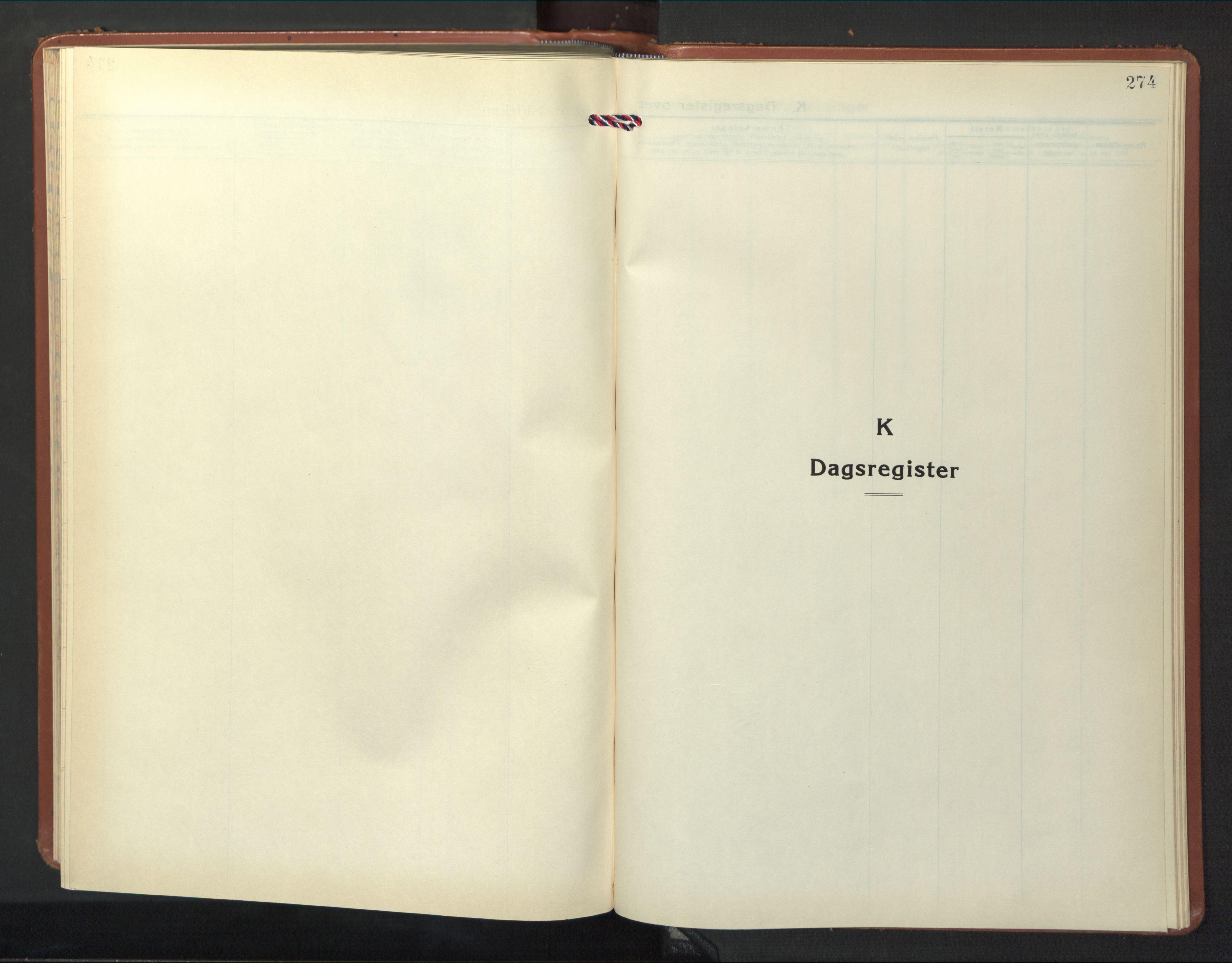 SAT, Ministerialprotokoller, klokkerbøker og fødselsregistre - Nord-Trøndelag, 774/L0631: Klokkerbok nr. 774C02, 1934-1950, s. 274