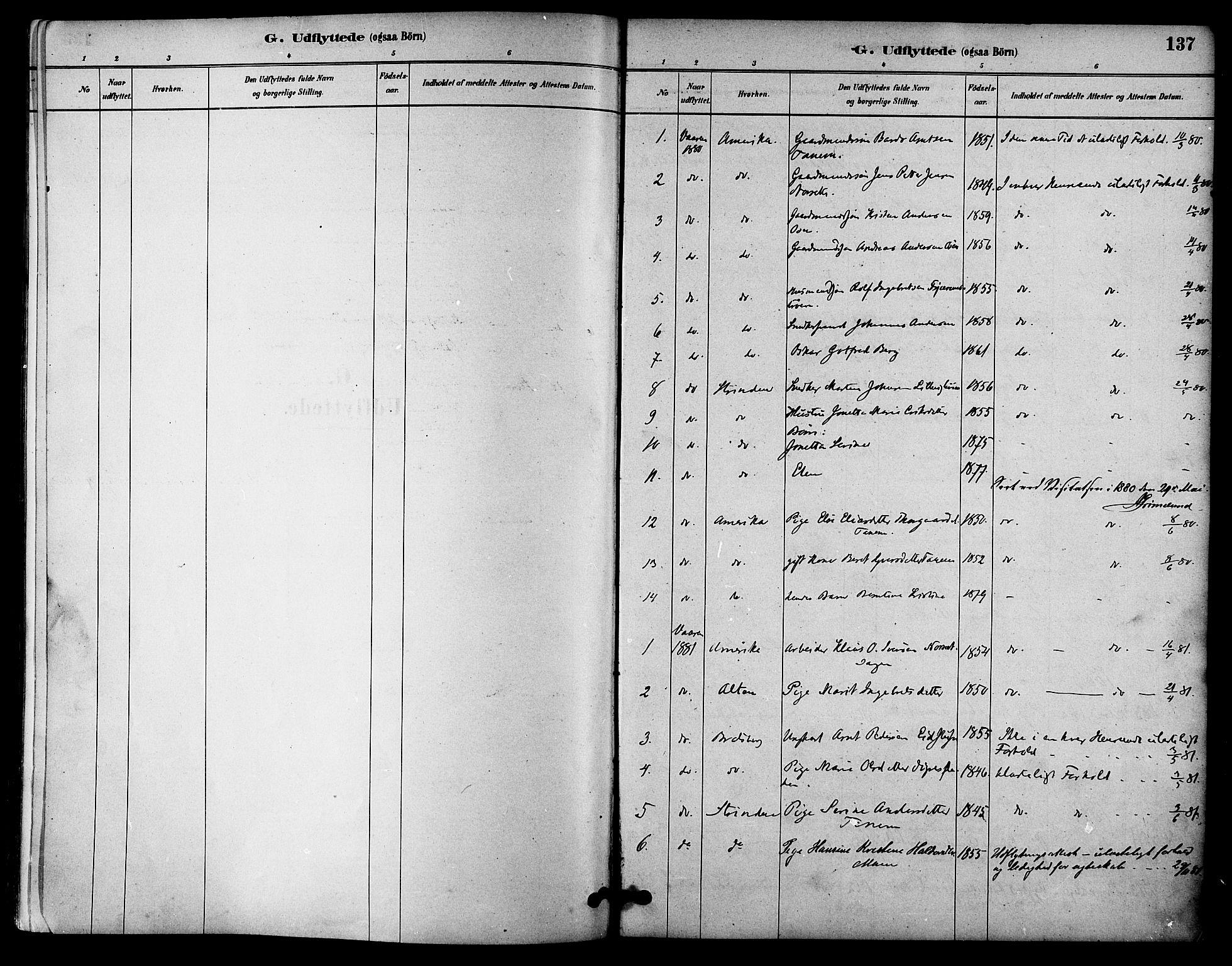 SAT, Ministerialprotokoller, klokkerbøker og fødselsregistre - Sør-Trøndelag, 618/L0444: Ministerialbok nr. 618A07, 1880-1898, s. 137