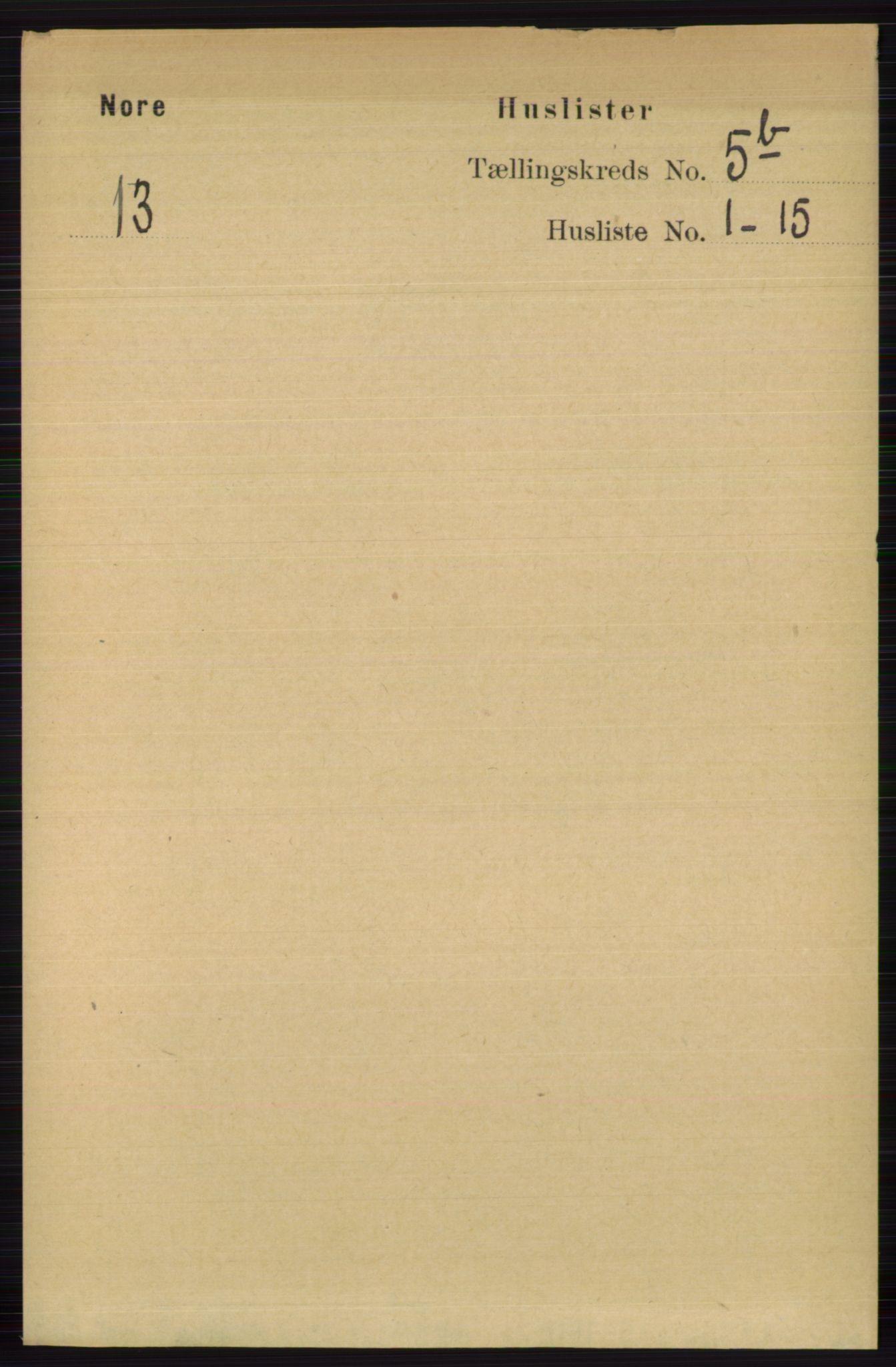 RA, Folketelling 1891 for 0633 Nore herred, 1891, s. 1760