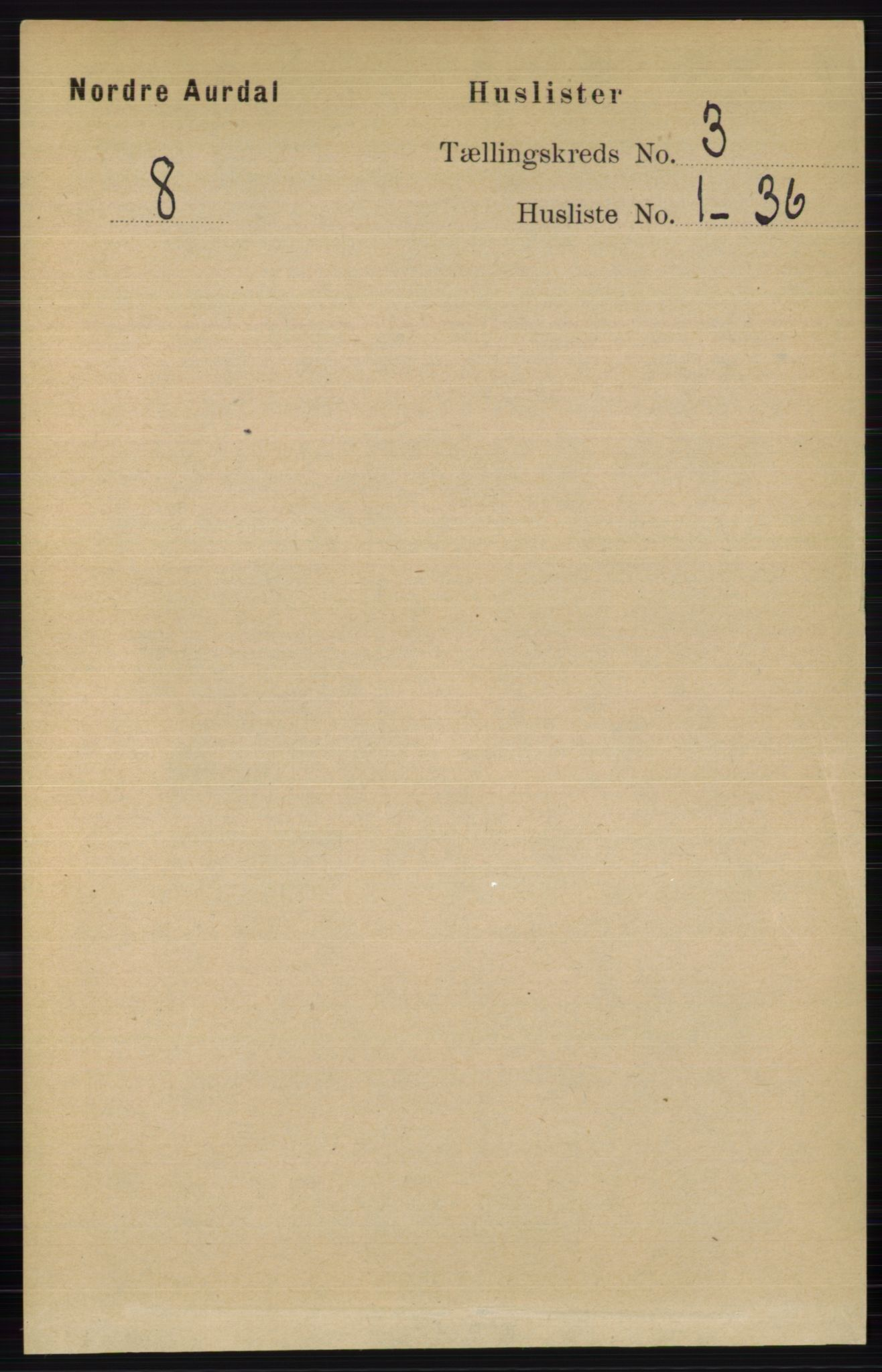RA, Folketelling 1891 for 0542 Nord-Aurdal herred, 1891, s. 914