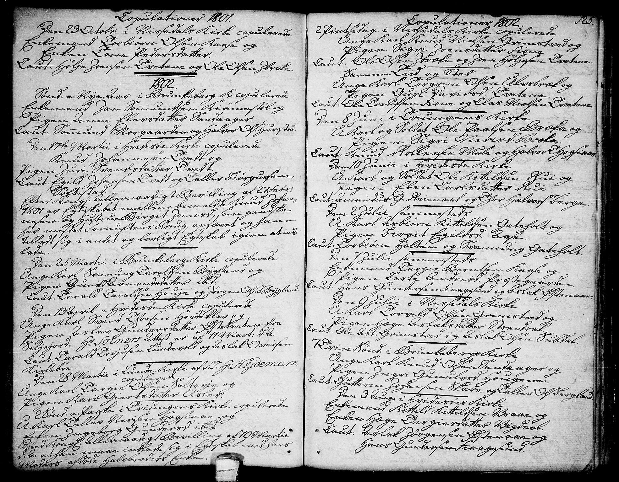 SAKO, Kviteseid kirkebøker, F/Fa/L0004: Ministerialbok nr. I 4, 1800-1814, s. 125