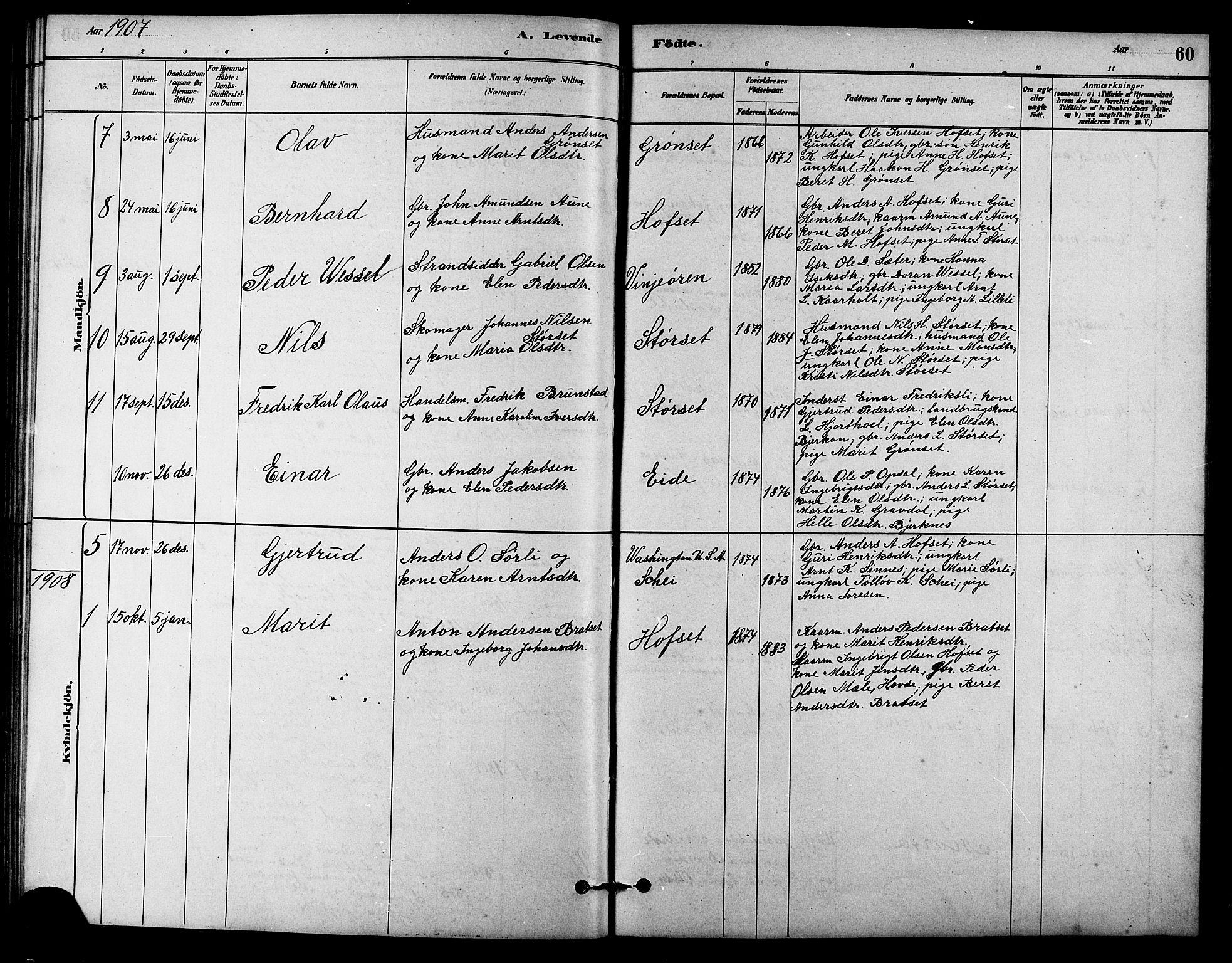 SAT, Ministerialprotokoller, klokkerbøker og fødselsregistre - Sør-Trøndelag, 631/L0514: Klokkerbok nr. 631C02, 1879-1912, s. 60