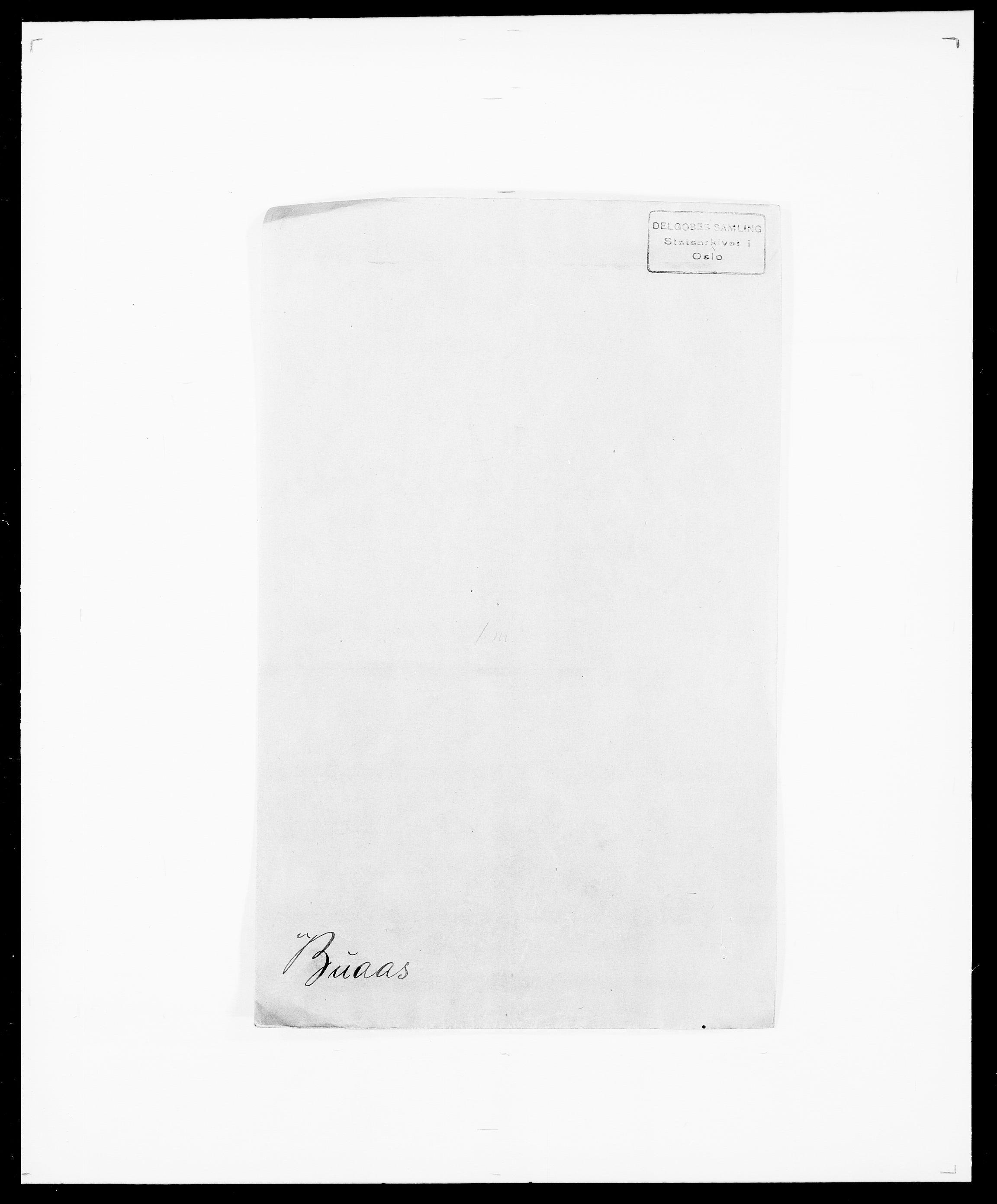 SAO, Delgobe, Charles Antoine - samling, D/Da/L0007: Buaas - Caphengst, s. 1