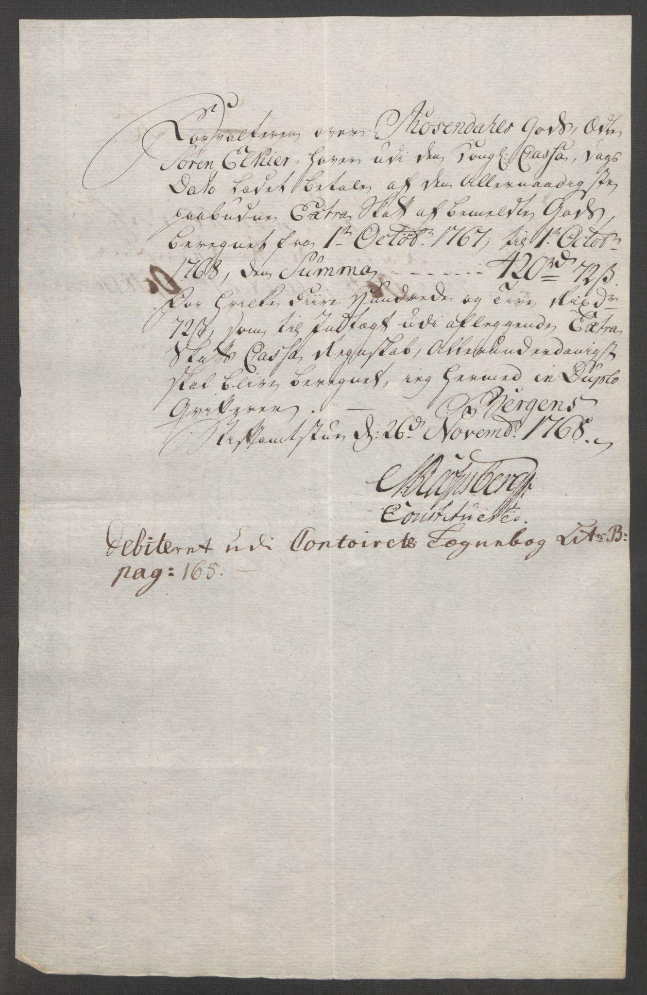 RA, Rentekammeret inntil 1814, Reviderte regnskaper, Fogderegnskap, R49/L3157: Ekstraskatten Rosendal Baroni, 1762-1772, s. 237