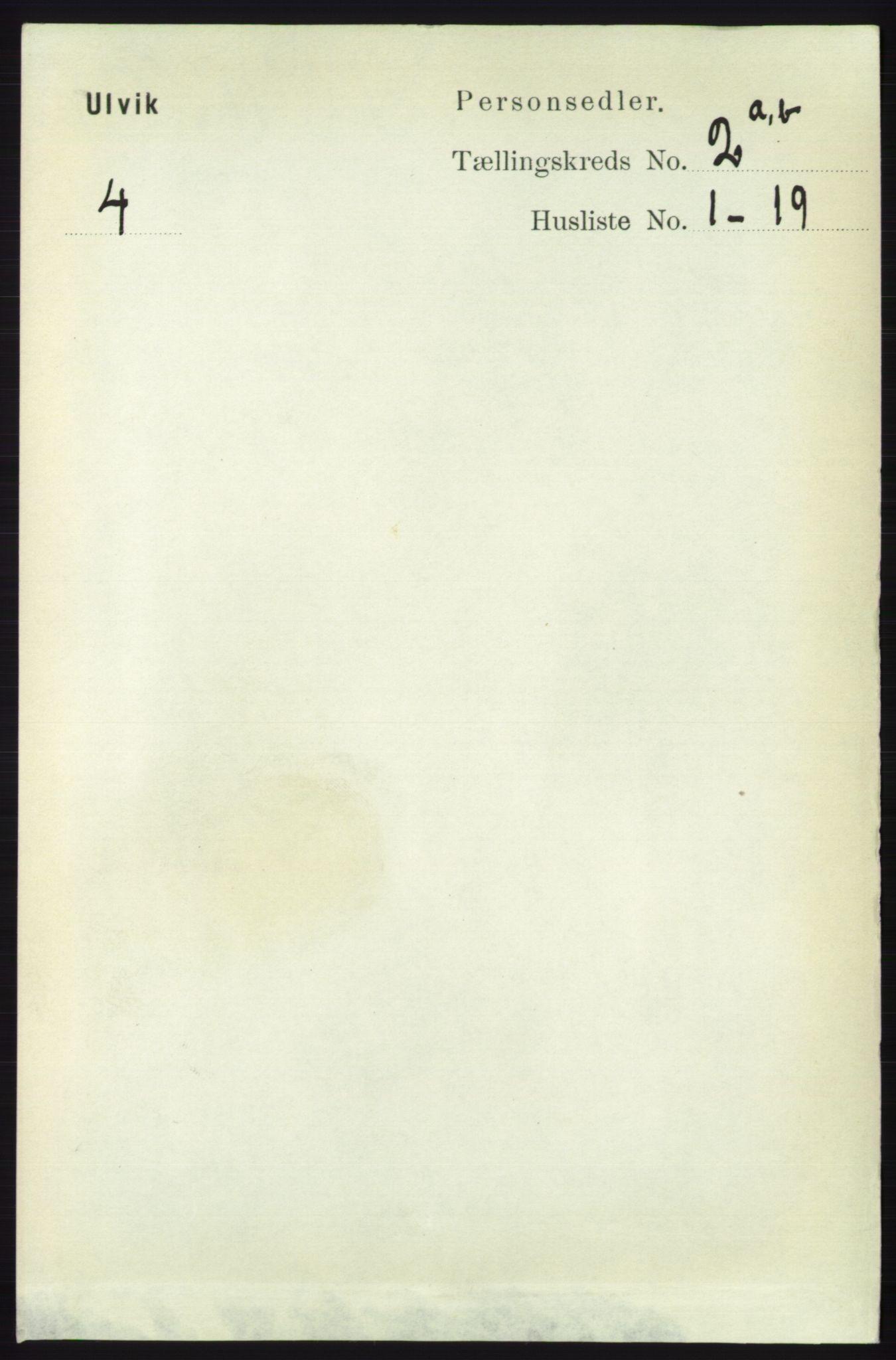RA, Folketelling 1891 for 1233 Ulvik herred, 1891, s. 232